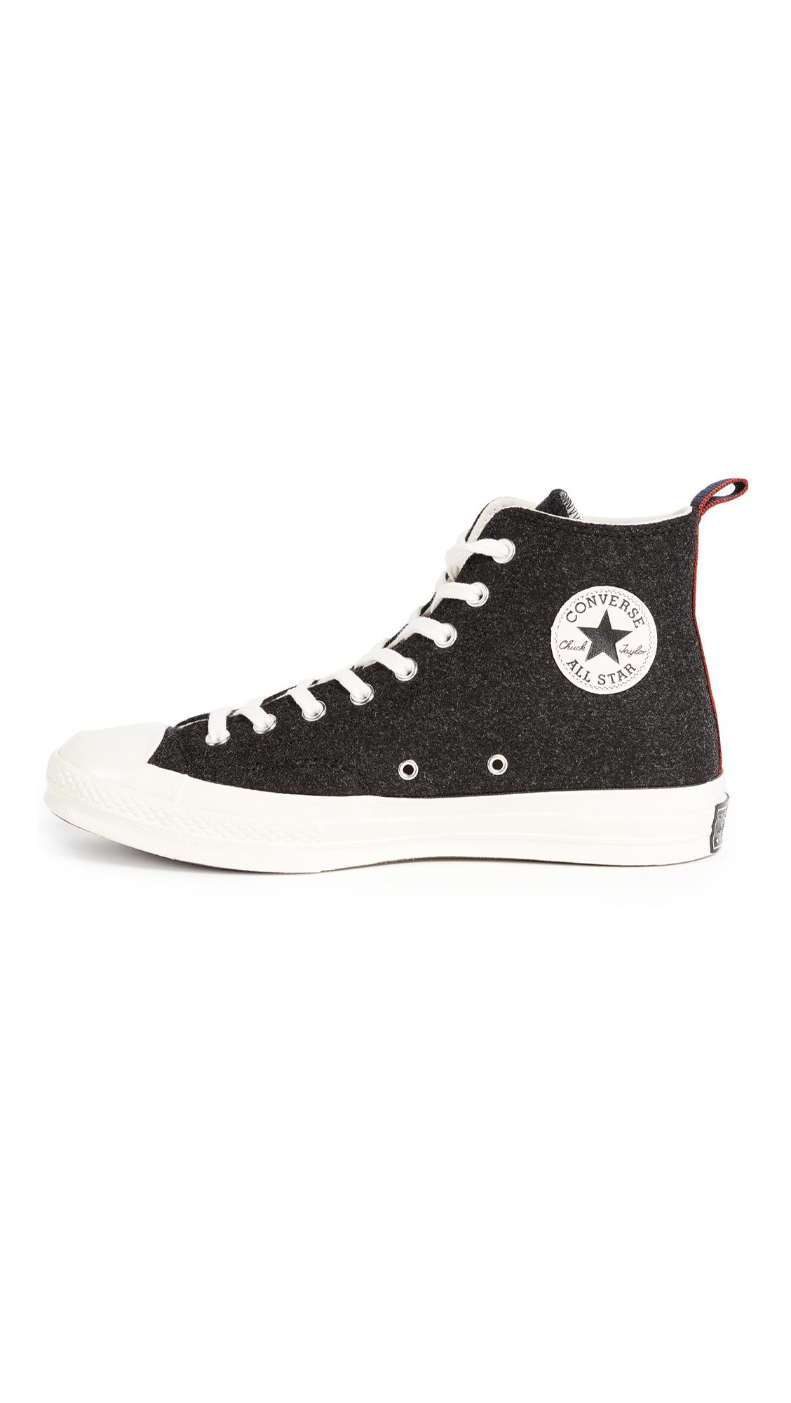 a62b36458cb Converse Chuck Taylor  70s Heritage Felt High Top Sneakers in Black ...