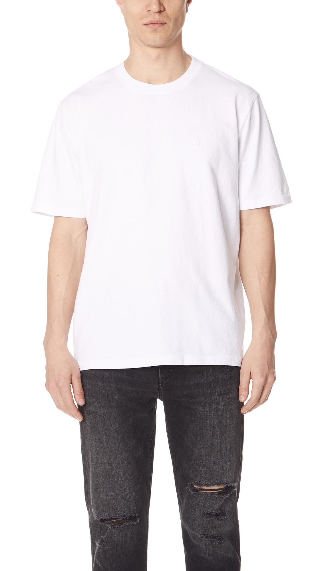 c97b9325f47 Stussy Classic Short Sleeve Jersey Tee in White for Men - Lyst