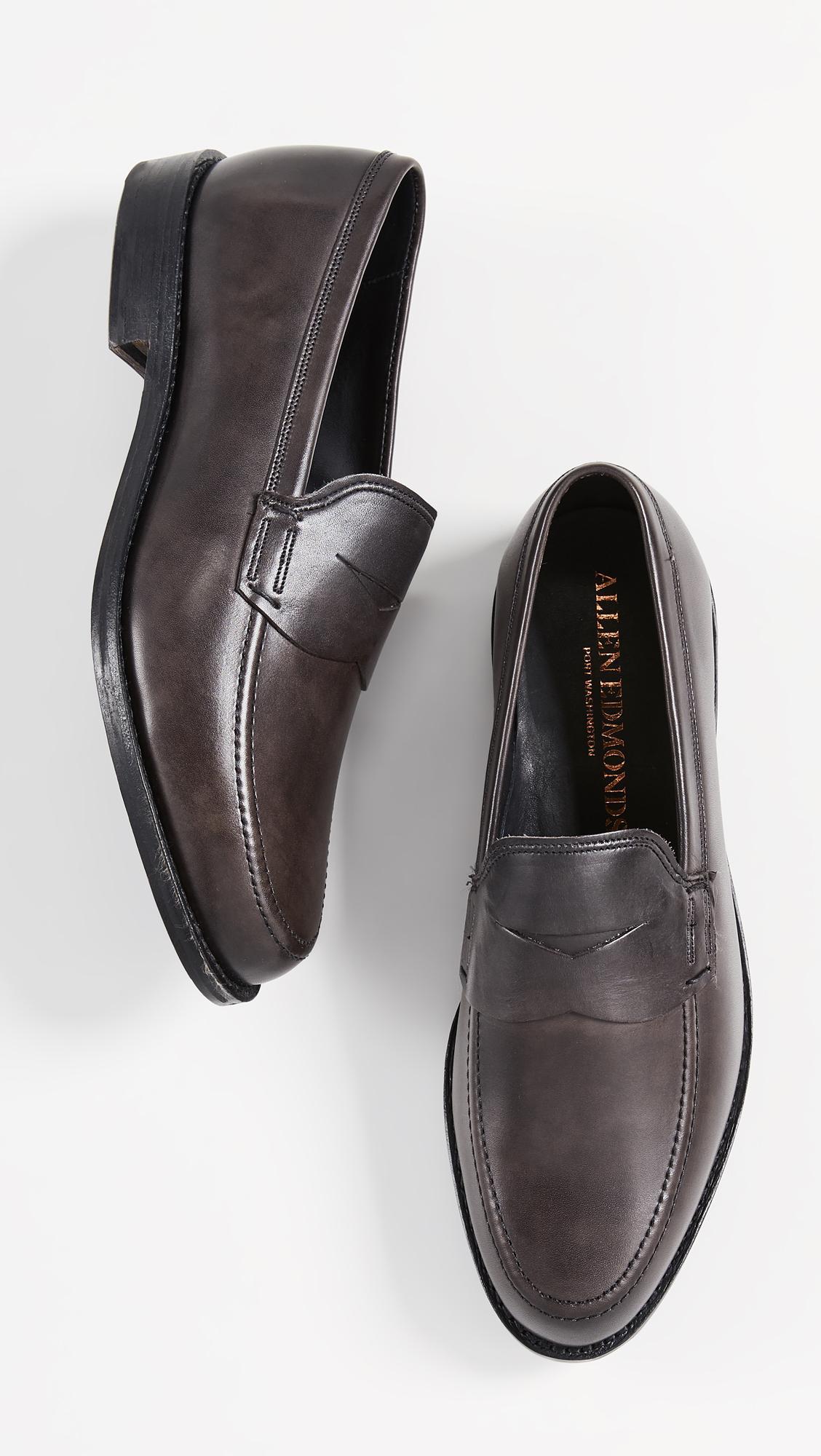 f9fcbb54e37 Allen Edmonds - Black Wooster Loafers for Men - Lyst. View fullscreen