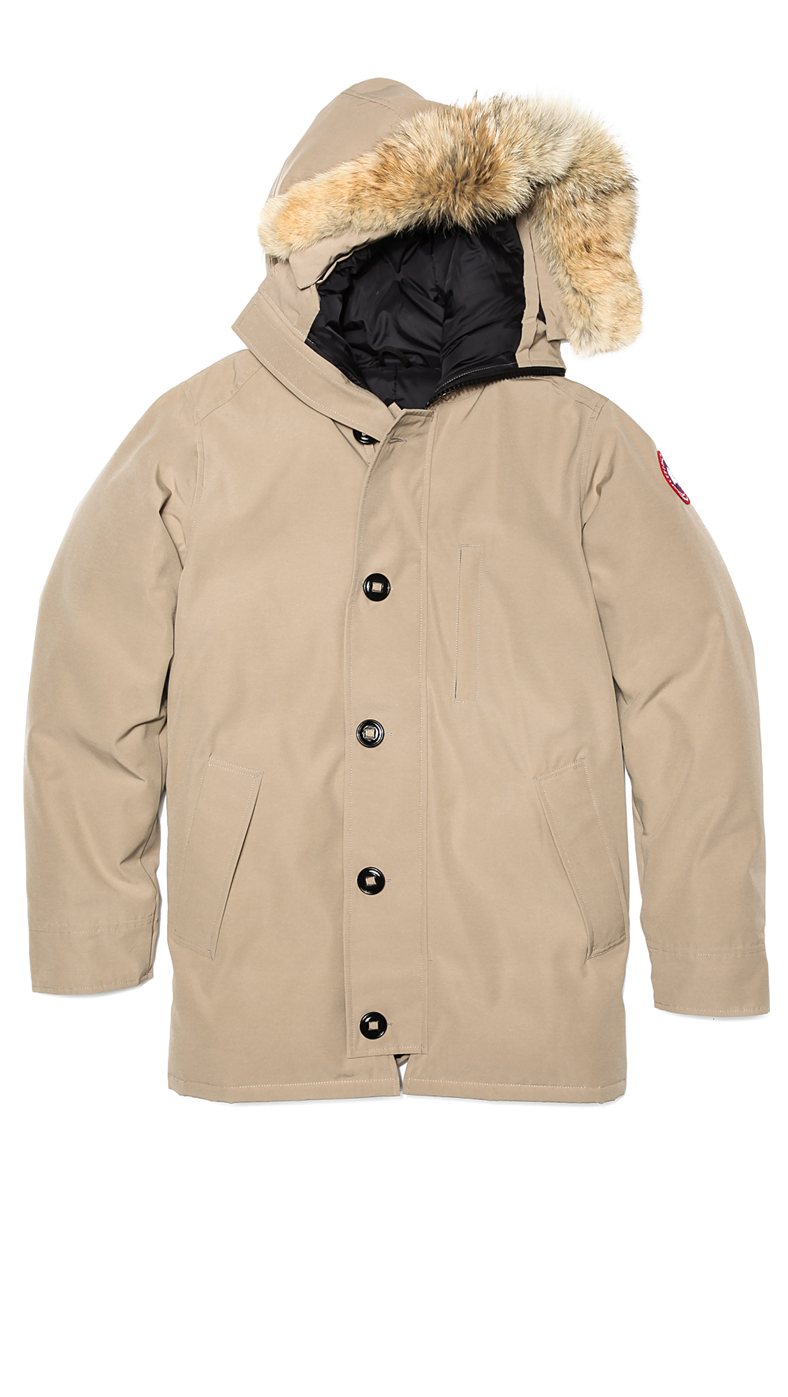 Canada Goose Chateau Parka With Fur In Beige For Men Tan