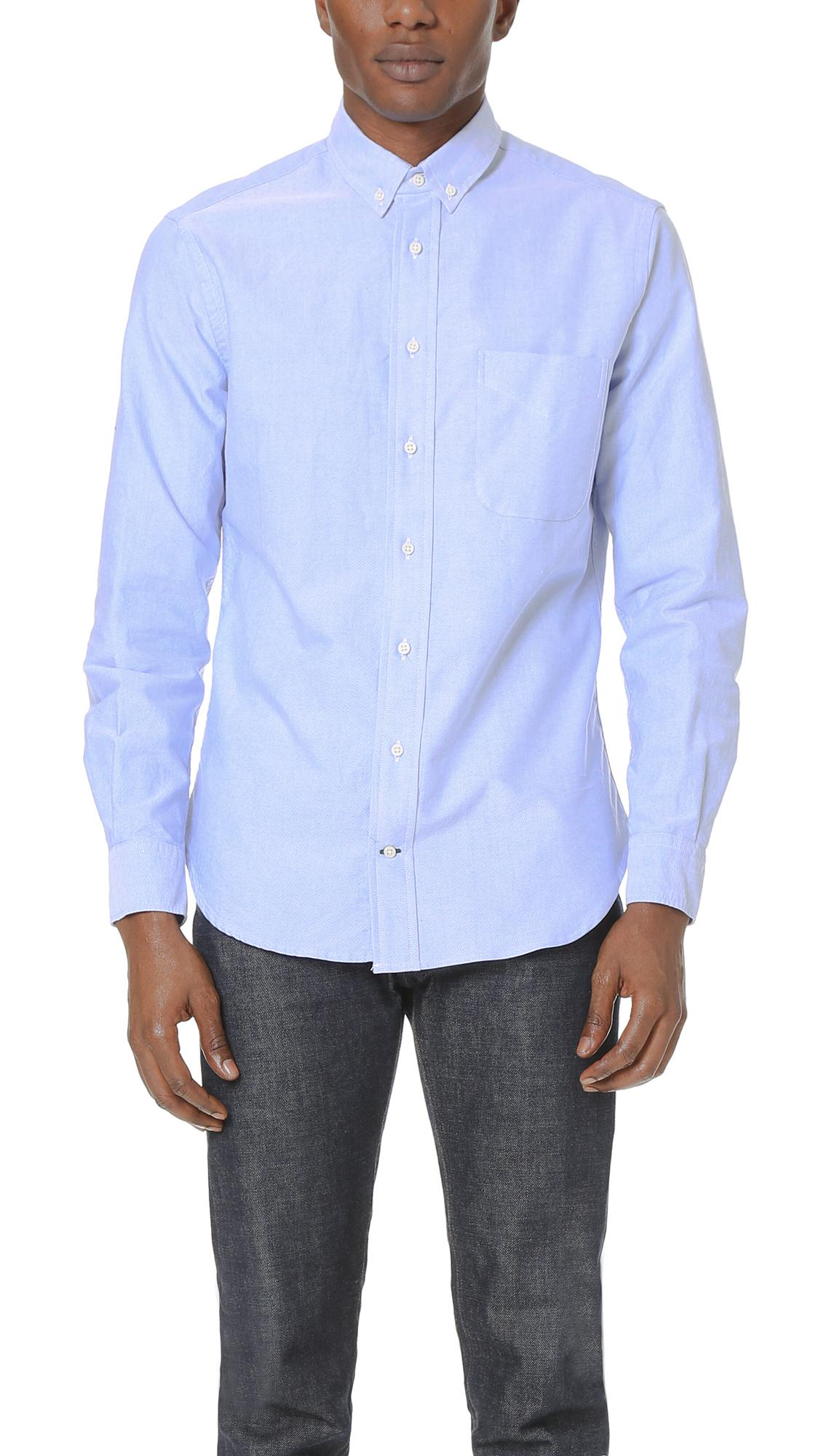 Gitman Brothers Vintage Oxford Shirt In Blue For Men Lyst