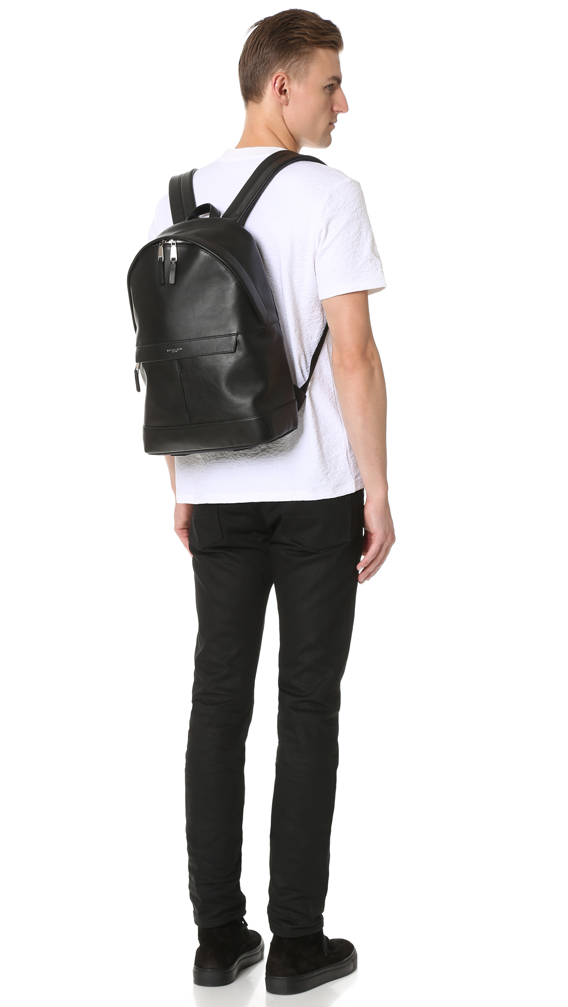 1f0e18a27d22 Michael Kors Owen Leather Backpack in Black for Men - Lyst
