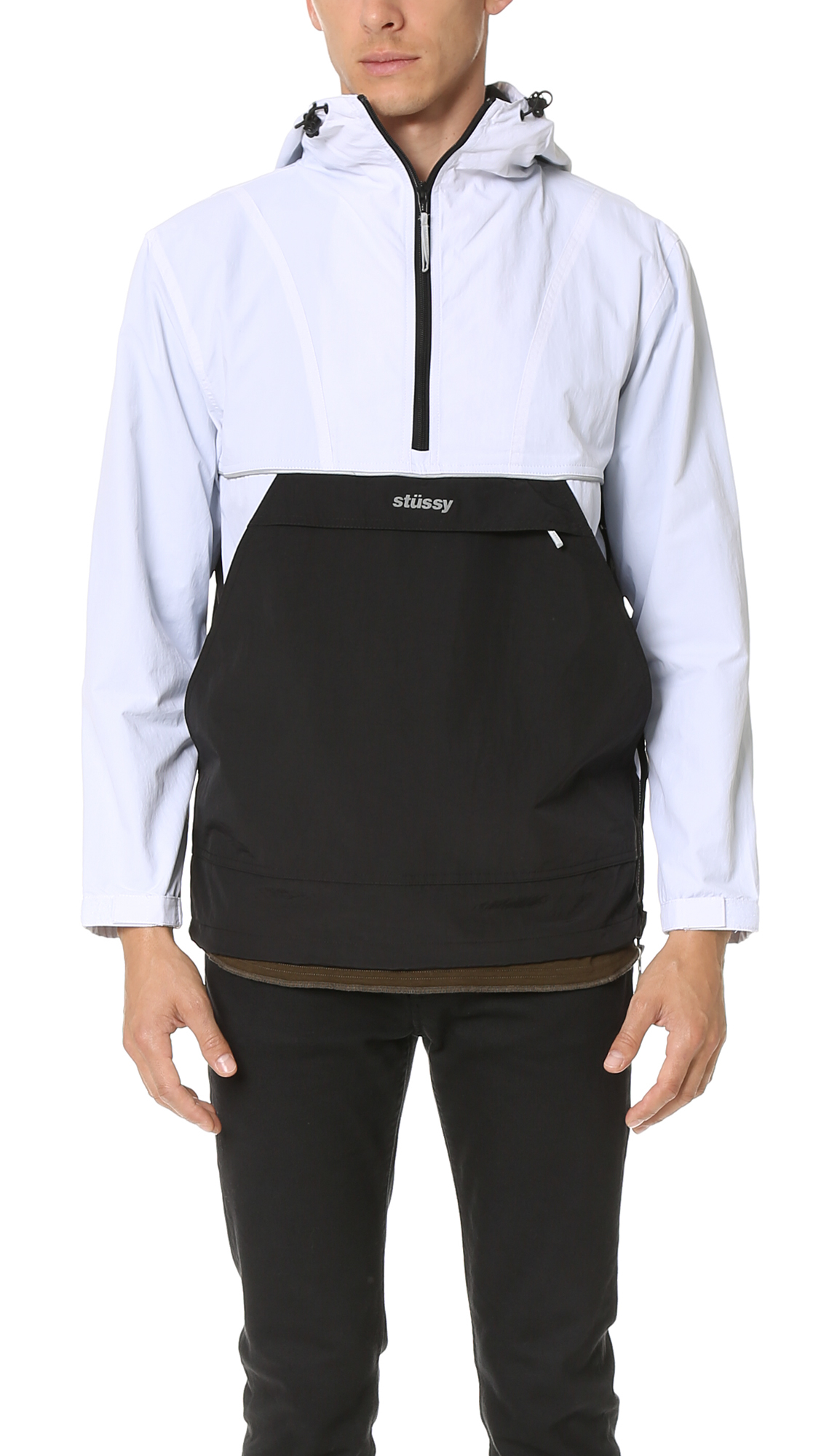 Lyst Stussy Reflective Sports Pullover Jacket In White