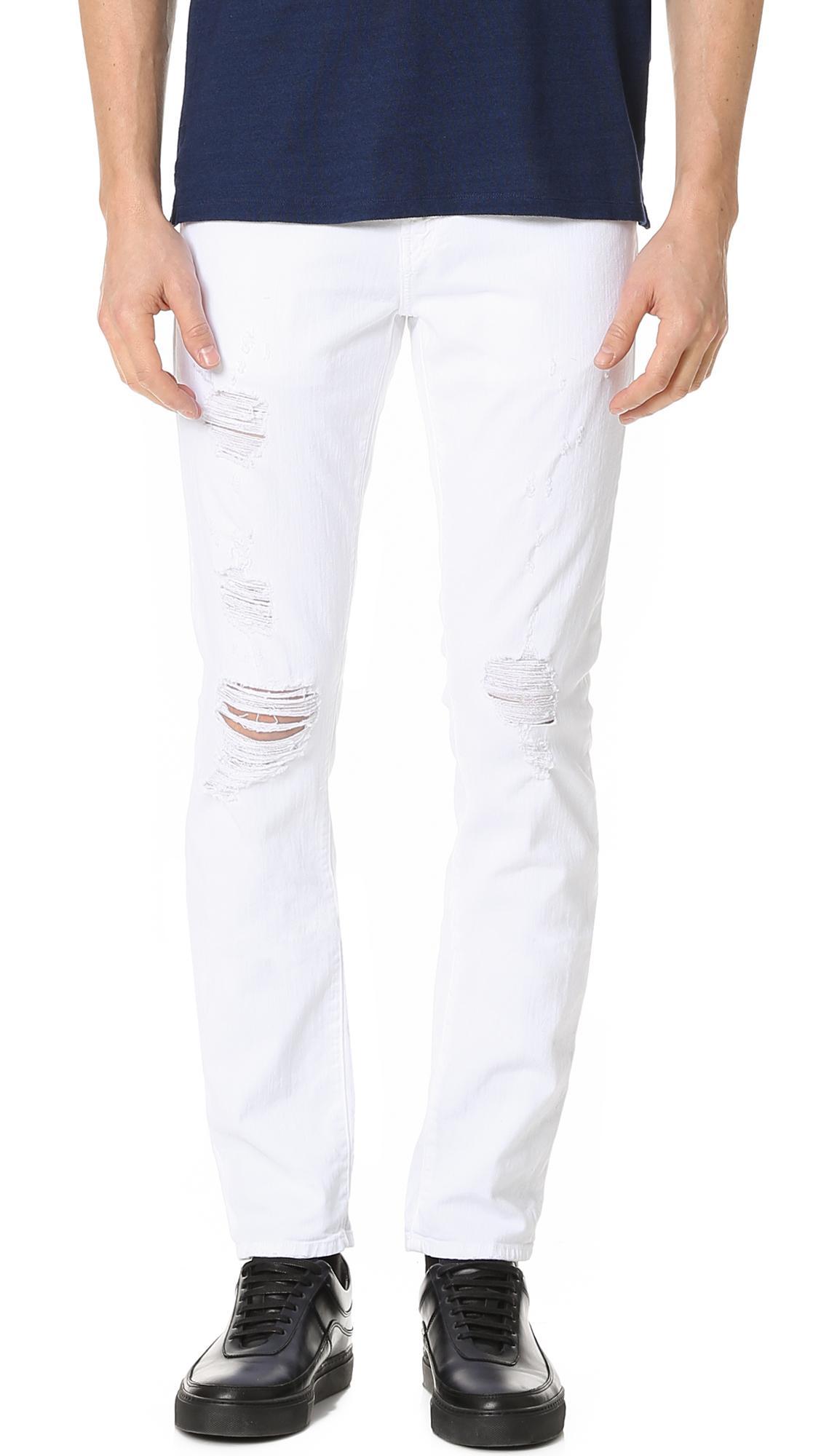 J brand Tyler Slim Fit Jeans in White for Men | Lyst