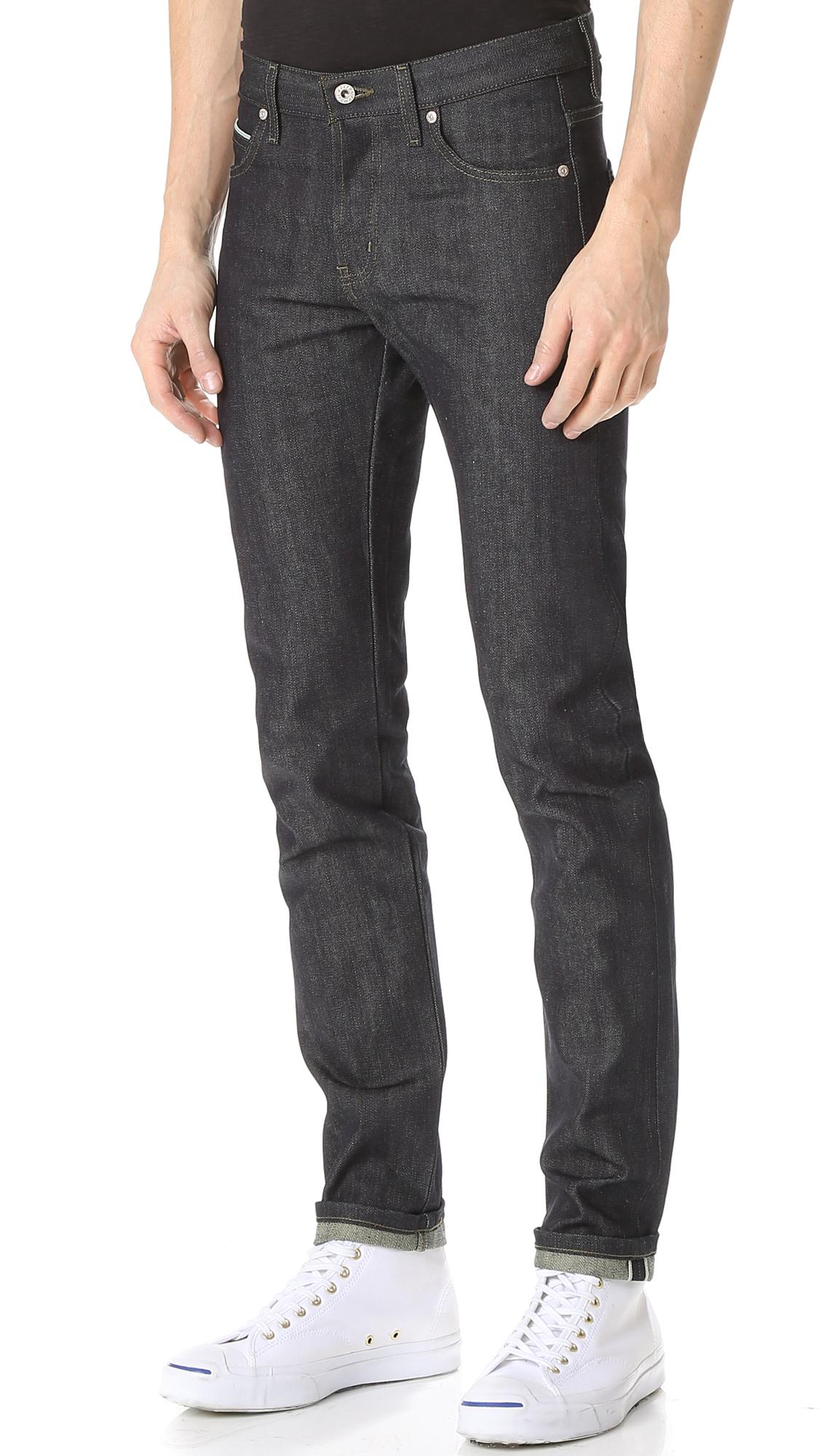 Lyst Naked Amp Famous Super Skinny Guy Green Tea Dyed
