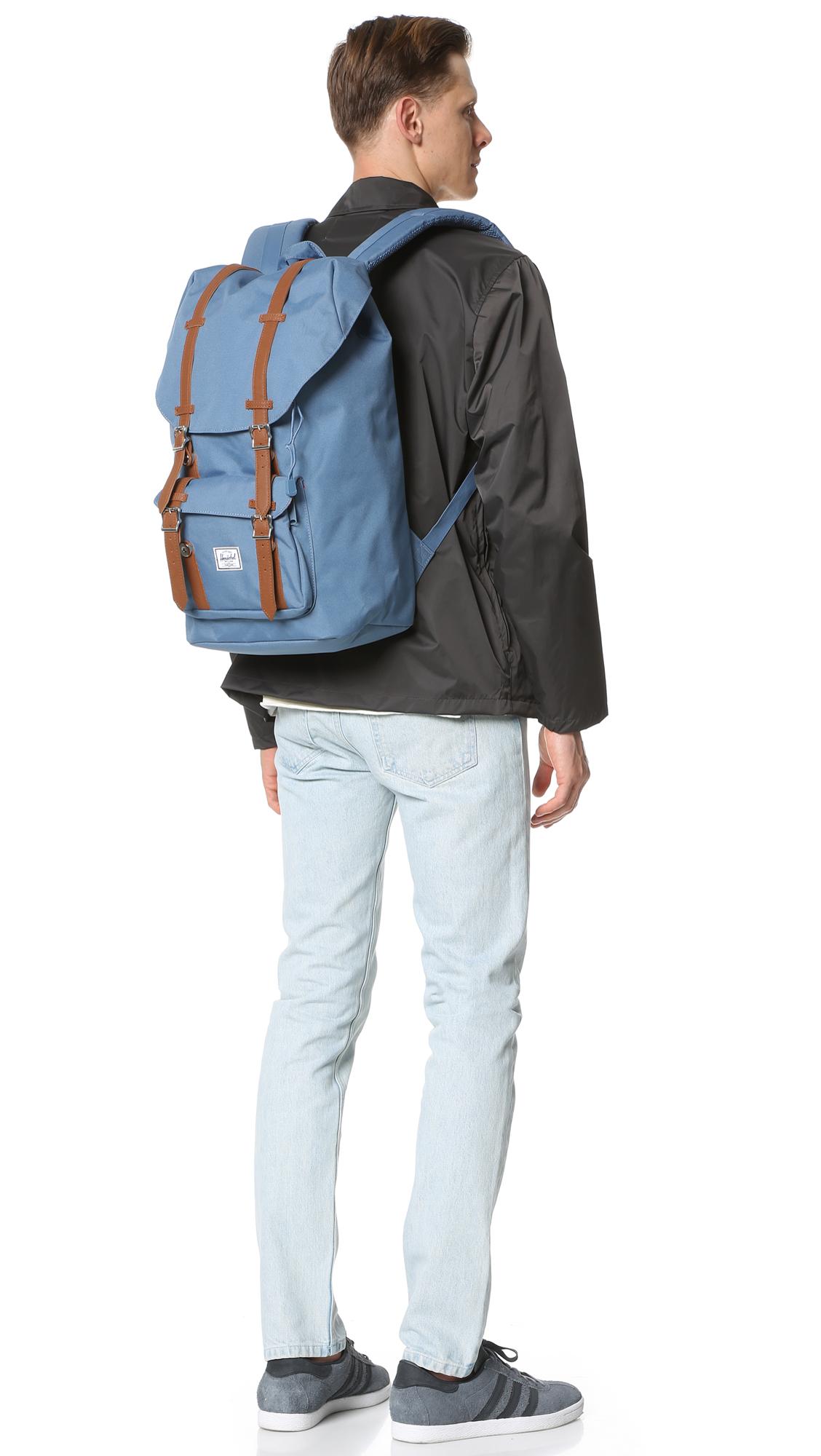 8af03b9b3b4f Lyst - Herschel Supply Co. Little America Backpack in Blue for Men