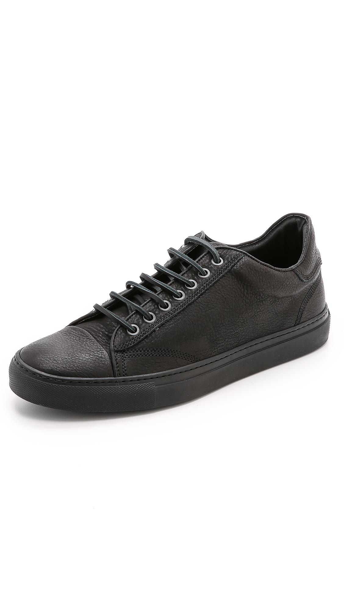 Wings Horns Leather Low Top Sneakers In Black For Men Lyst