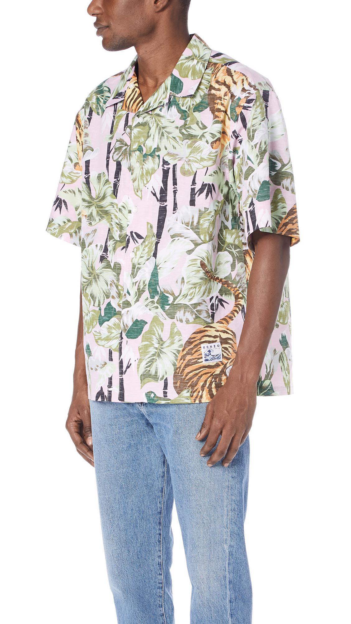 69156e050 KENZO Hawaiian Shirt for Men - Lyst