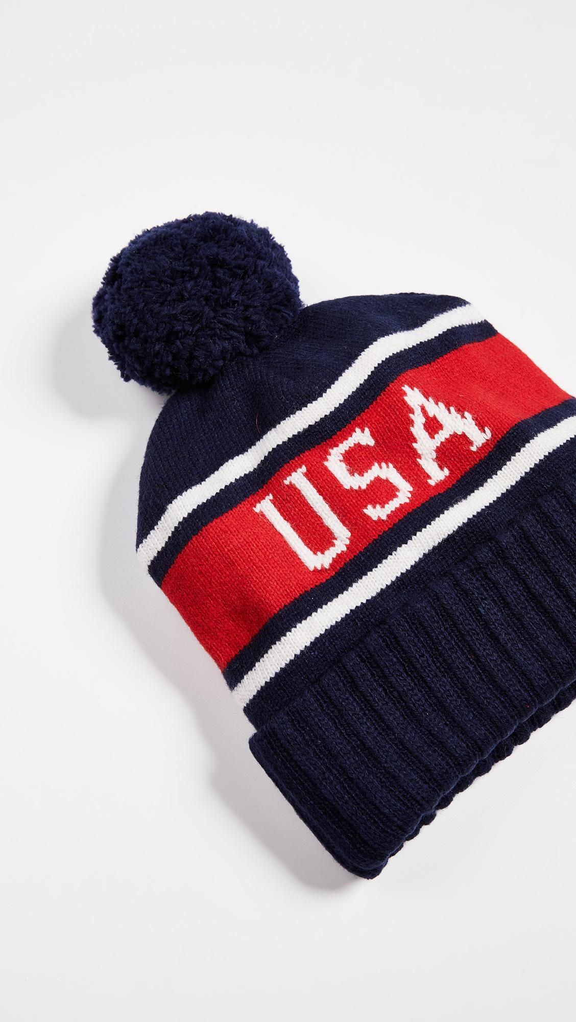 2f25ba5fff266 Polo Ralph Lauren Polo Usa Stadium Hats (navy Multi) Beanies in Blue ...