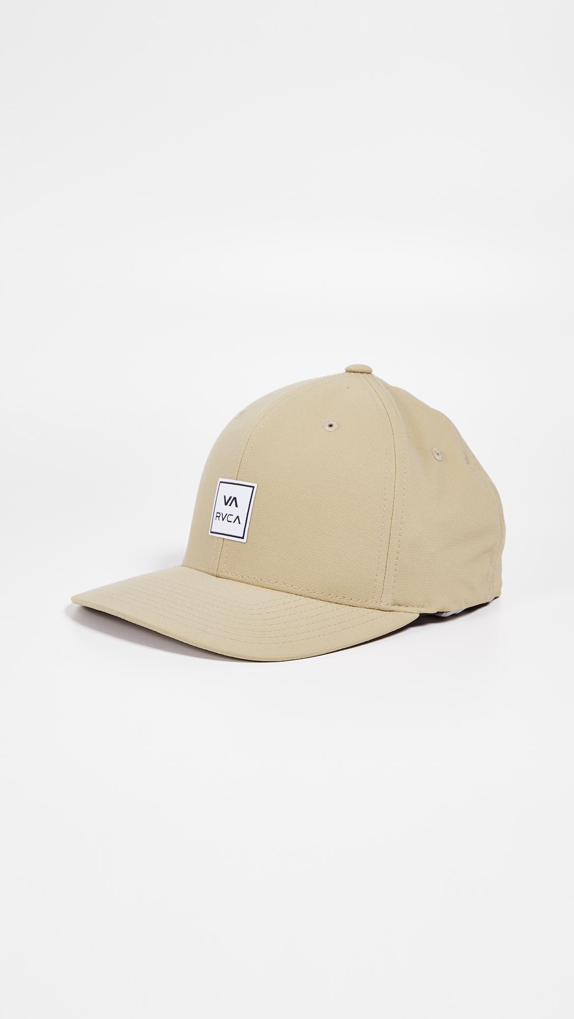 new product 43b47 b6f46 RVCA - Natural Warner Flex Fit Hat for Men - Lyst. View fullscreen