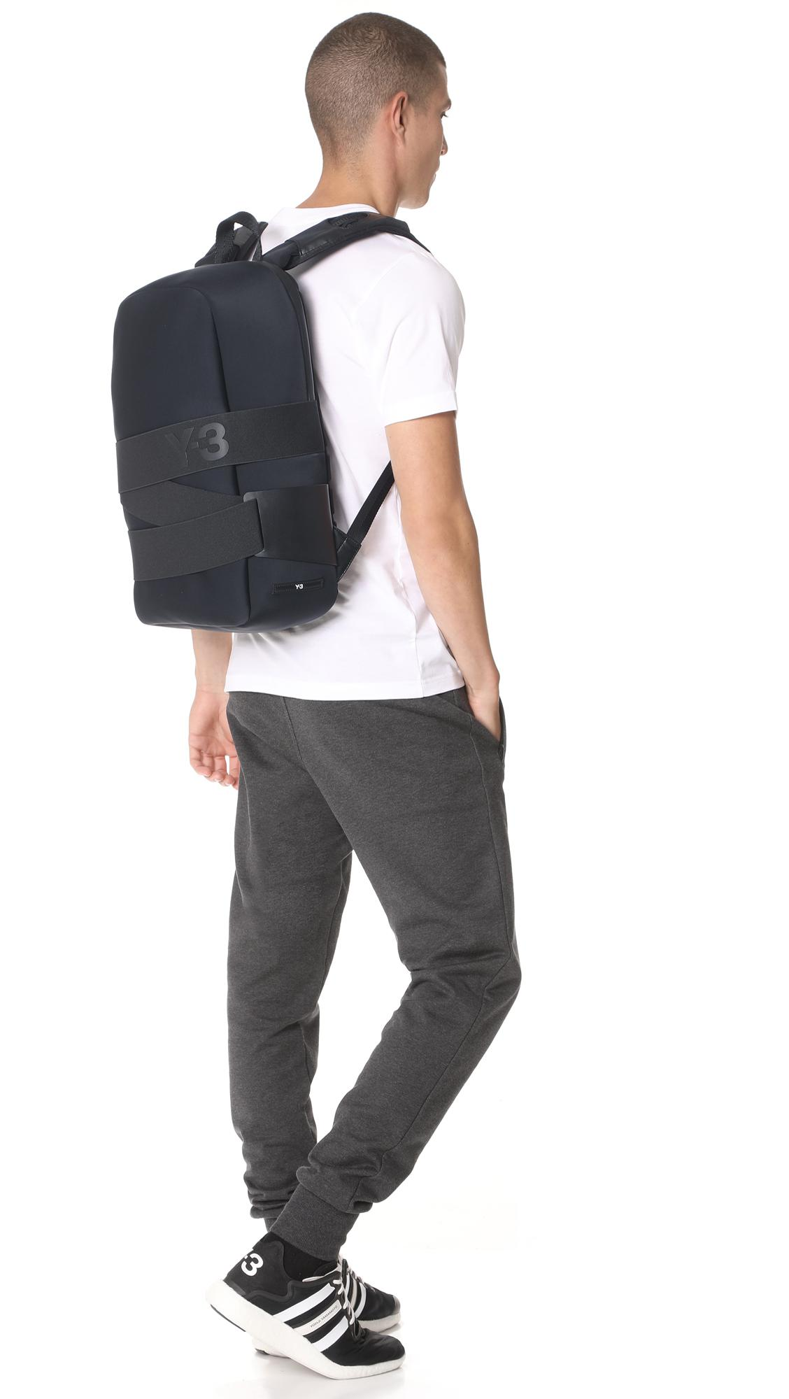 e78223f830 Lyst - Y-3 Qrush Backpack in Black for Men