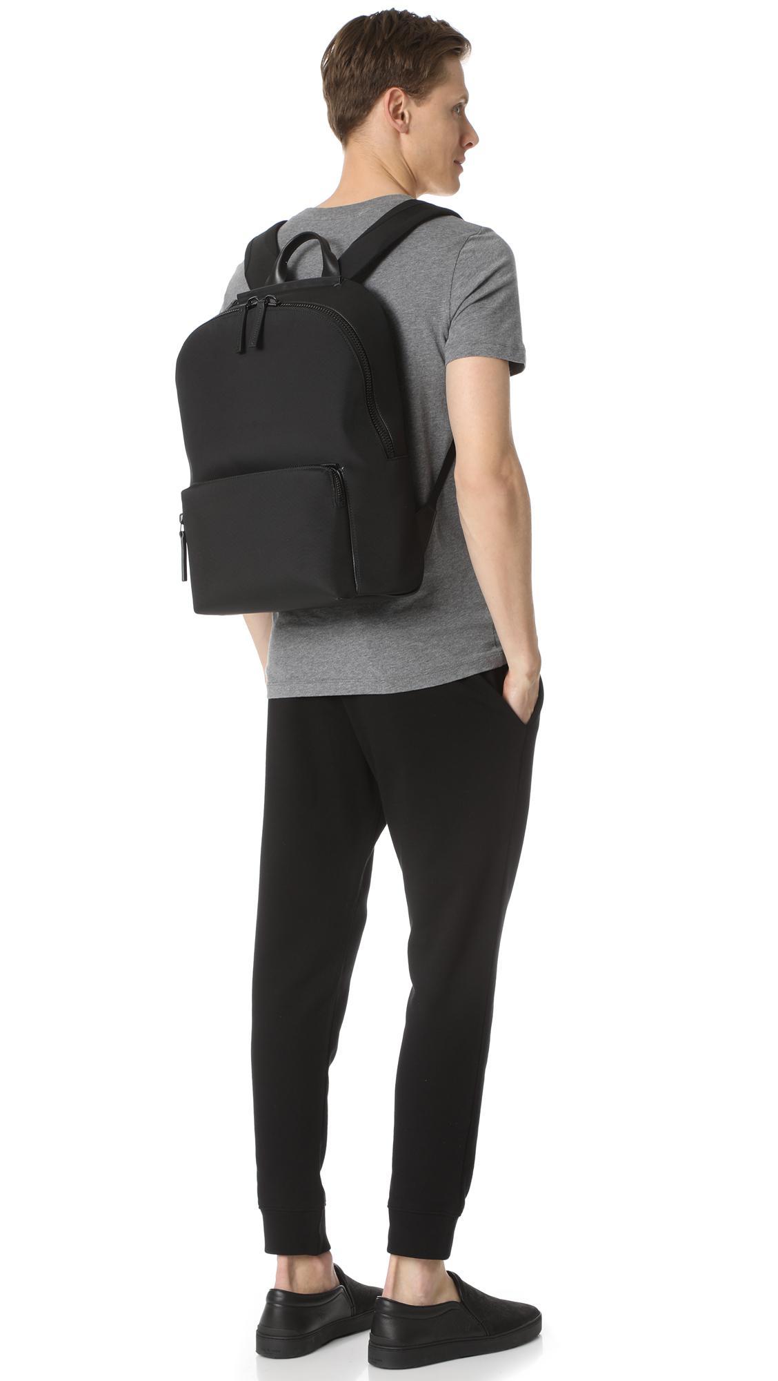 d8e35dfd7 Troubadour Zip Top Rucksack in Black for Men - Lyst