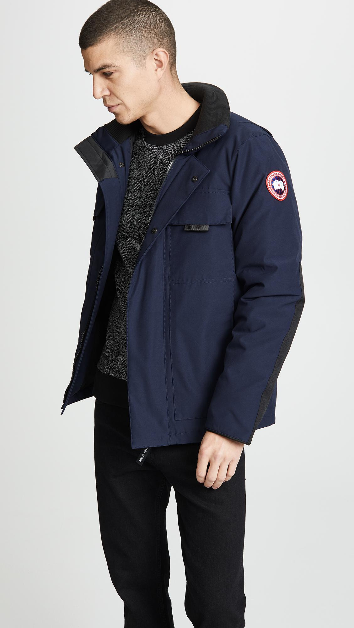 c4ce9674f3d11 Canada Goose Forester Jacket in Blue for Men - Save 19% - Lyst