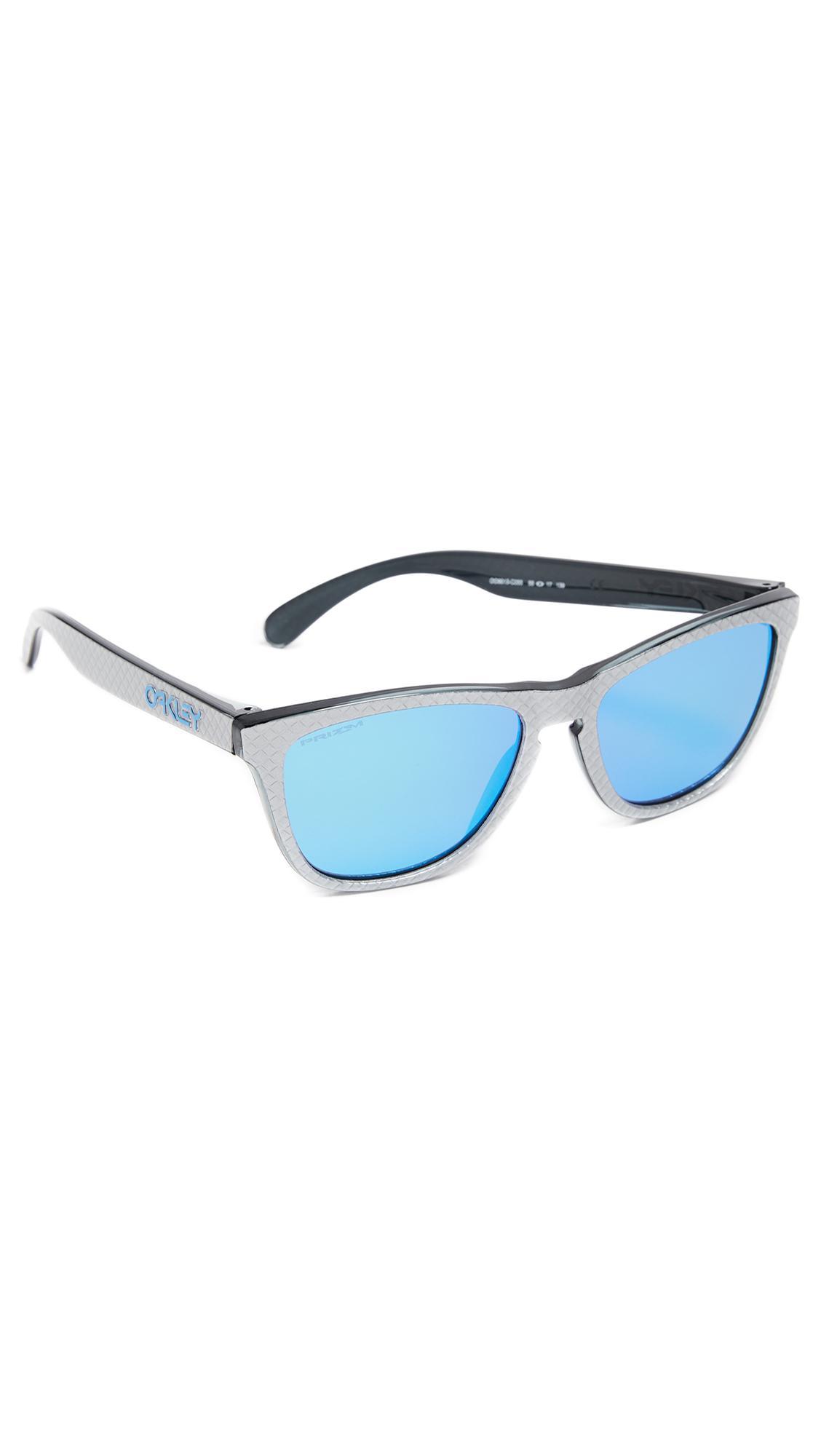 48eefab1fd Lyst - Oakley Frogskins Prizm Checkbox Sunglasses in Blue for Men