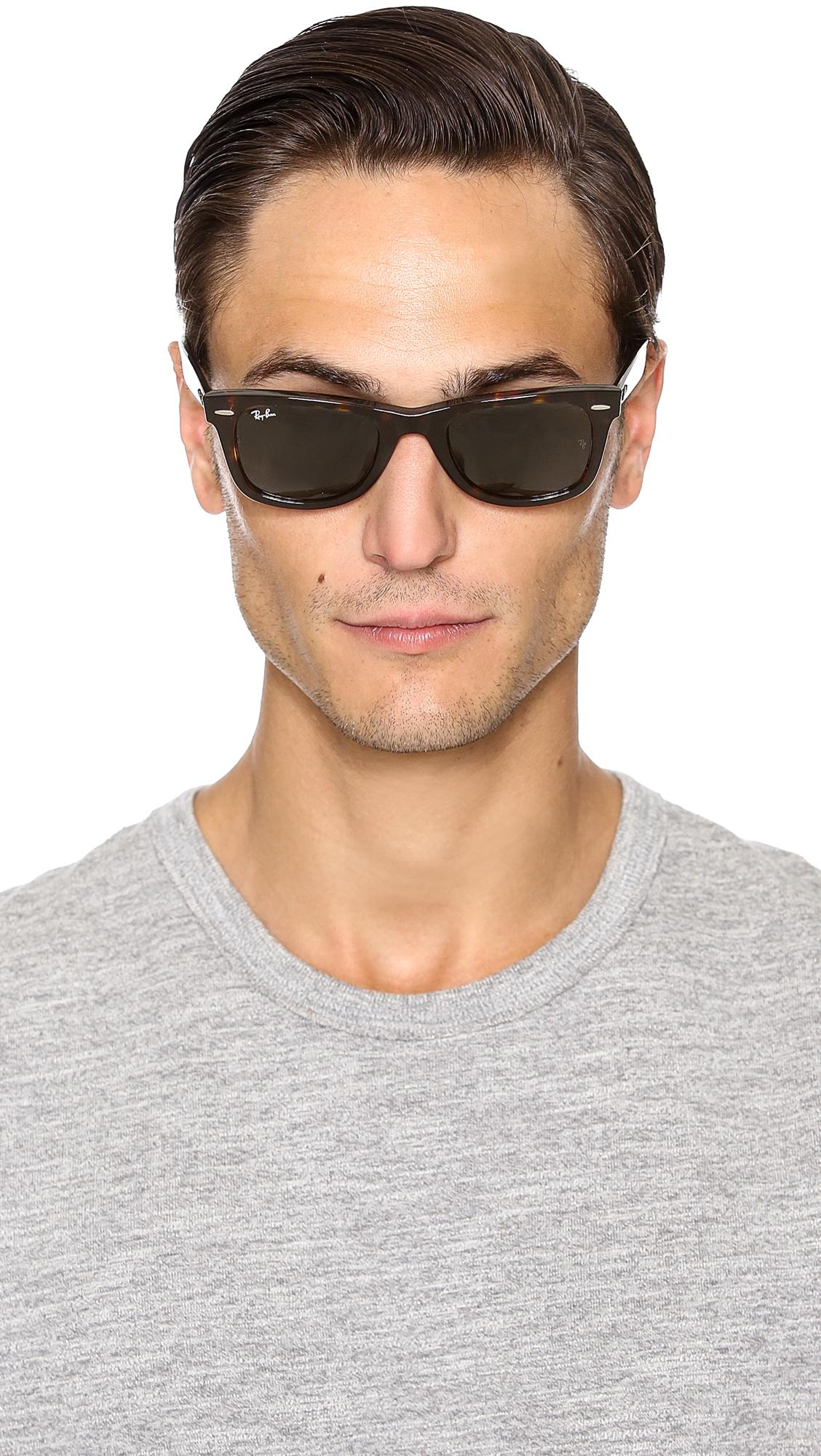 e67892e1a3 Ray-Ban - Green Original Wayfarer Sunglasses for Men - Lyst. View fullscreen