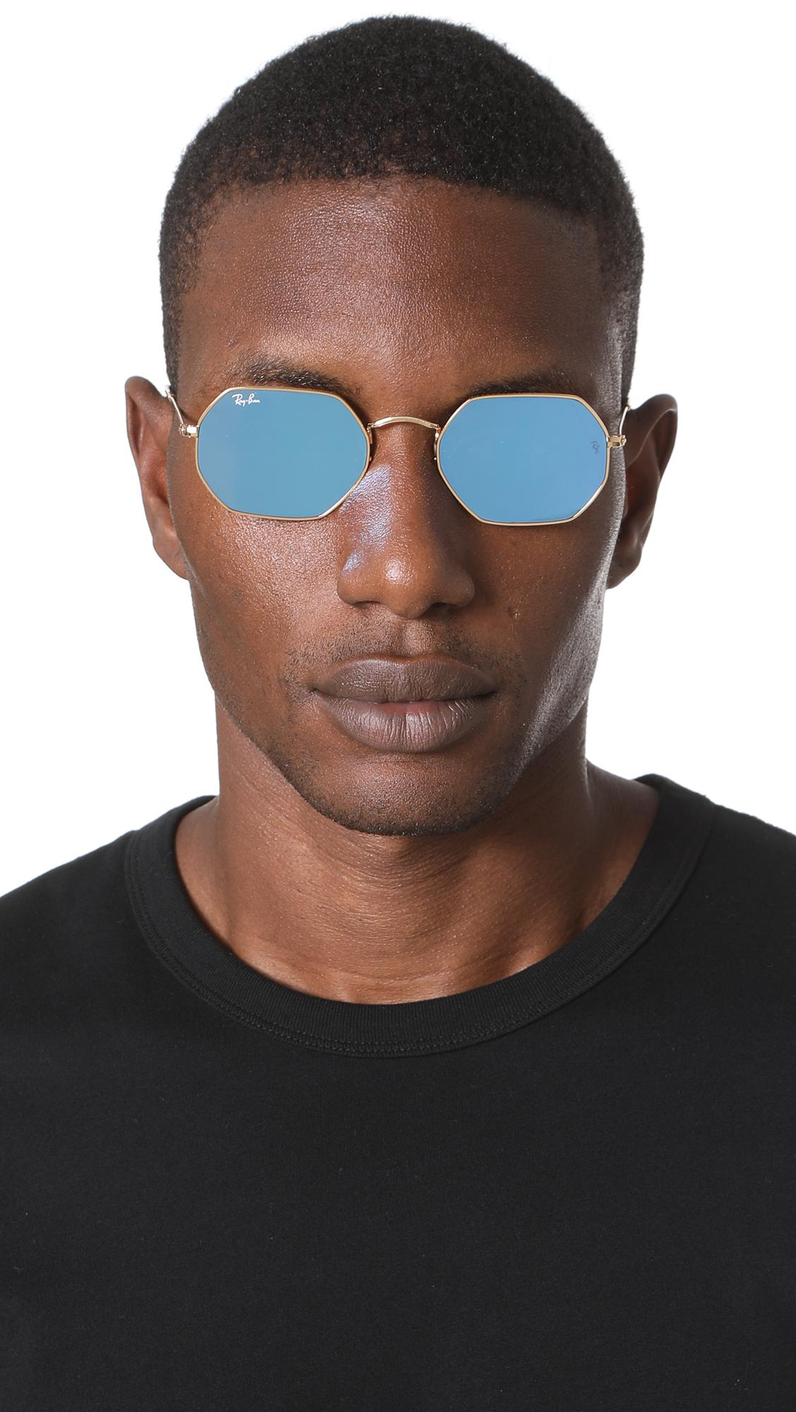 Lens Men Ray For Ban Flat In Lyst Octagon Sunglasses Blue 9bDWEH2IYe