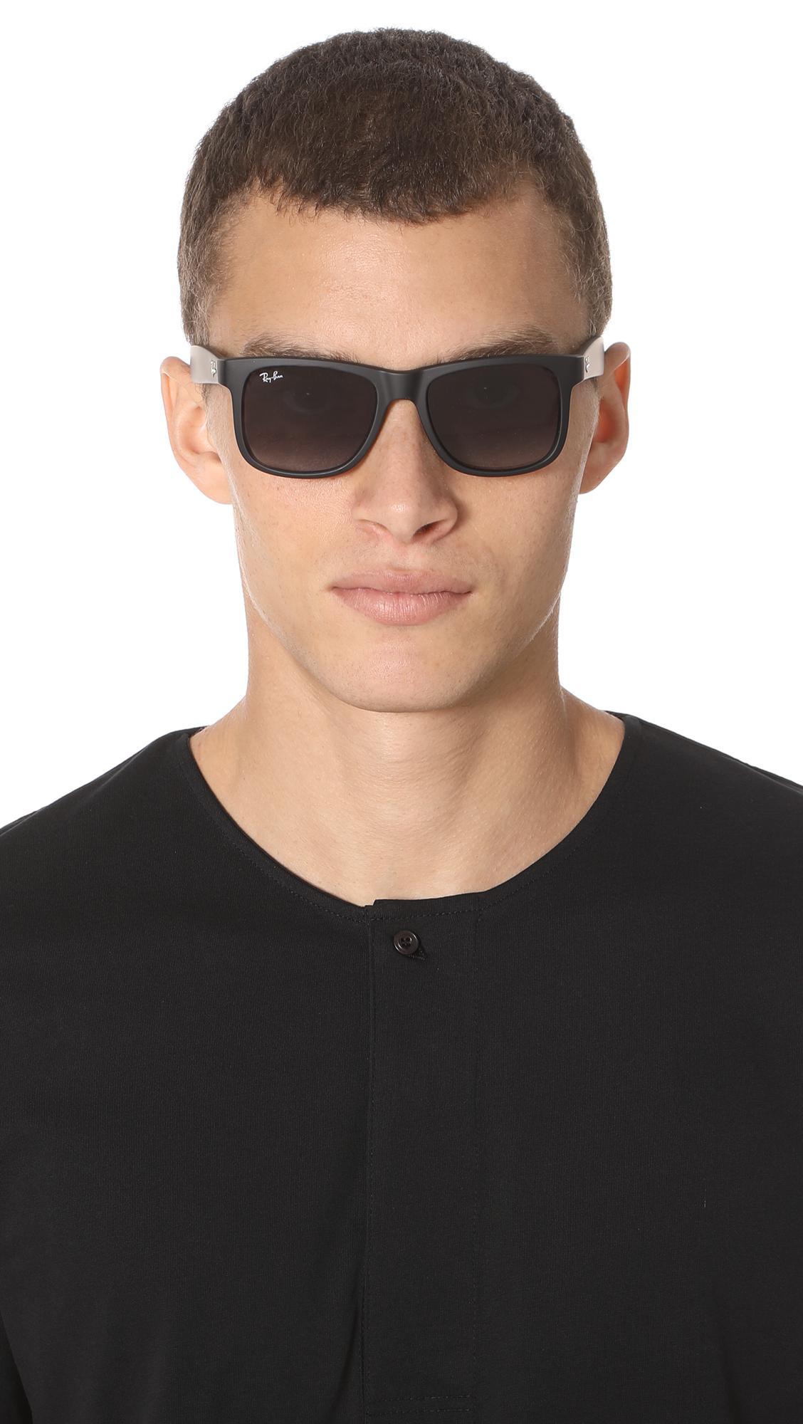 de92f600b0 Ray-Ban - Black Justin Sunglasses for Men - Lyst. View fullscreen