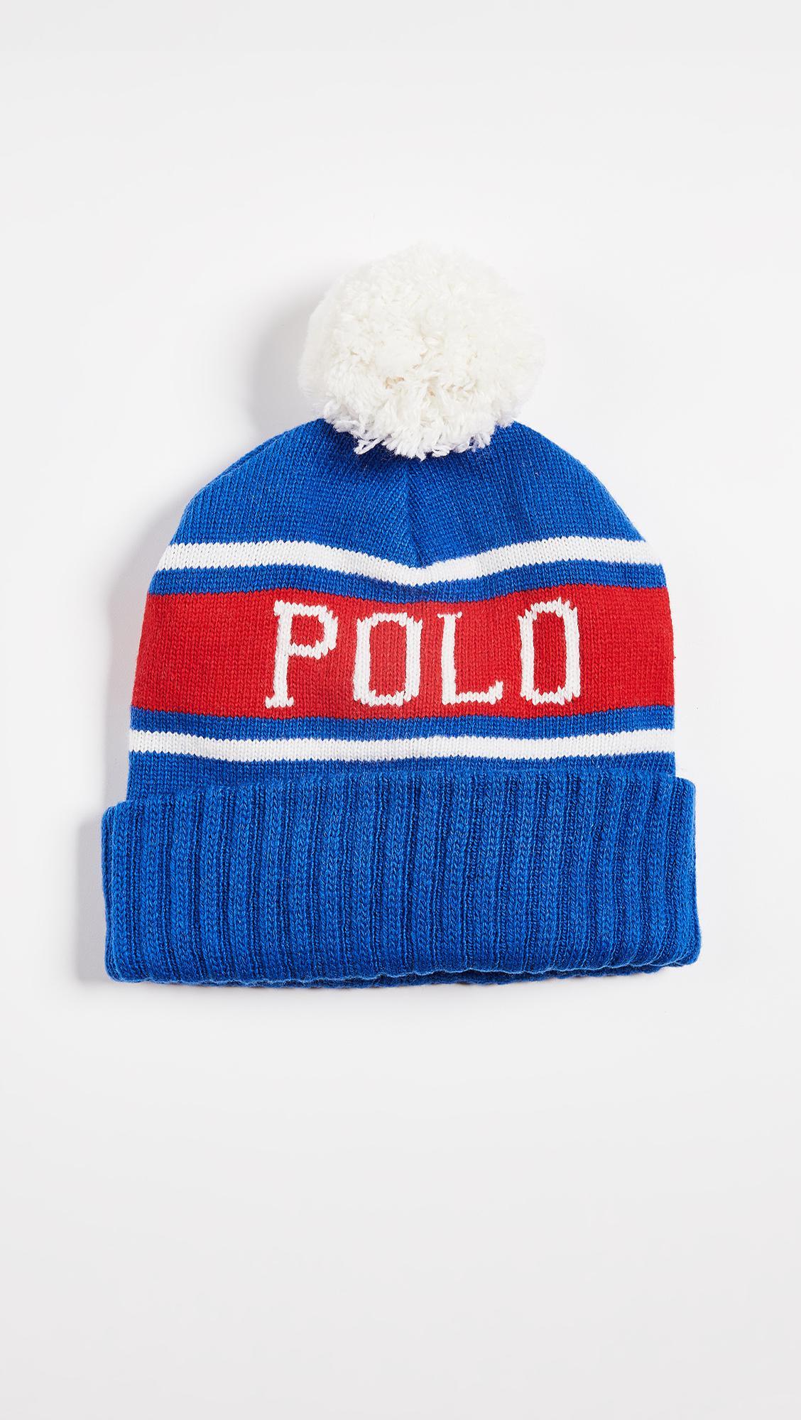 78f89fe56c9b7 Polo Ralph Lauren Wool Rope Beanie - Parchment N Lead