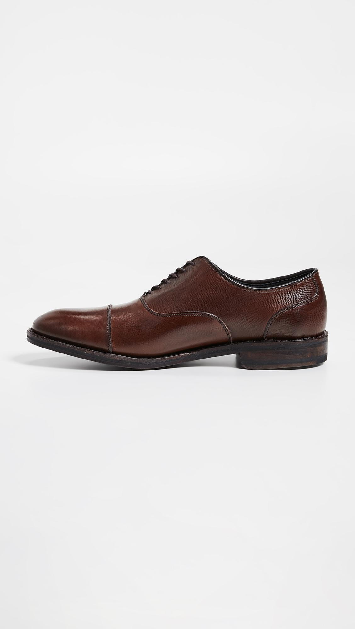 56320a8163f Allen Edmonds - Brown Bond Street Cap Toe Shoes for Men - Lyst. View  fullscreen