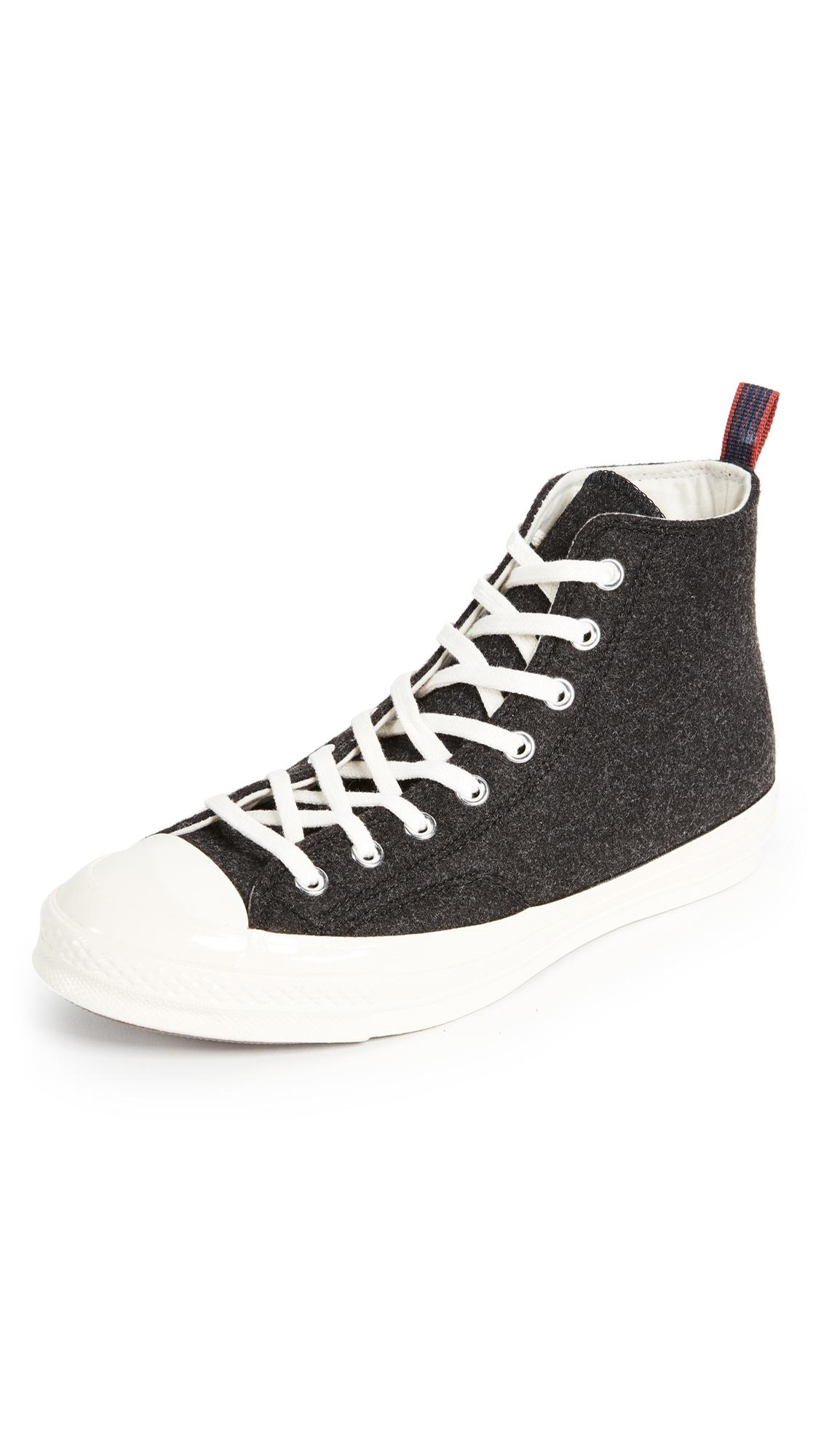 d5f07d675ce Converse Chuck Taylor  70s Heritage Felt High Top Sneakers in Black ...