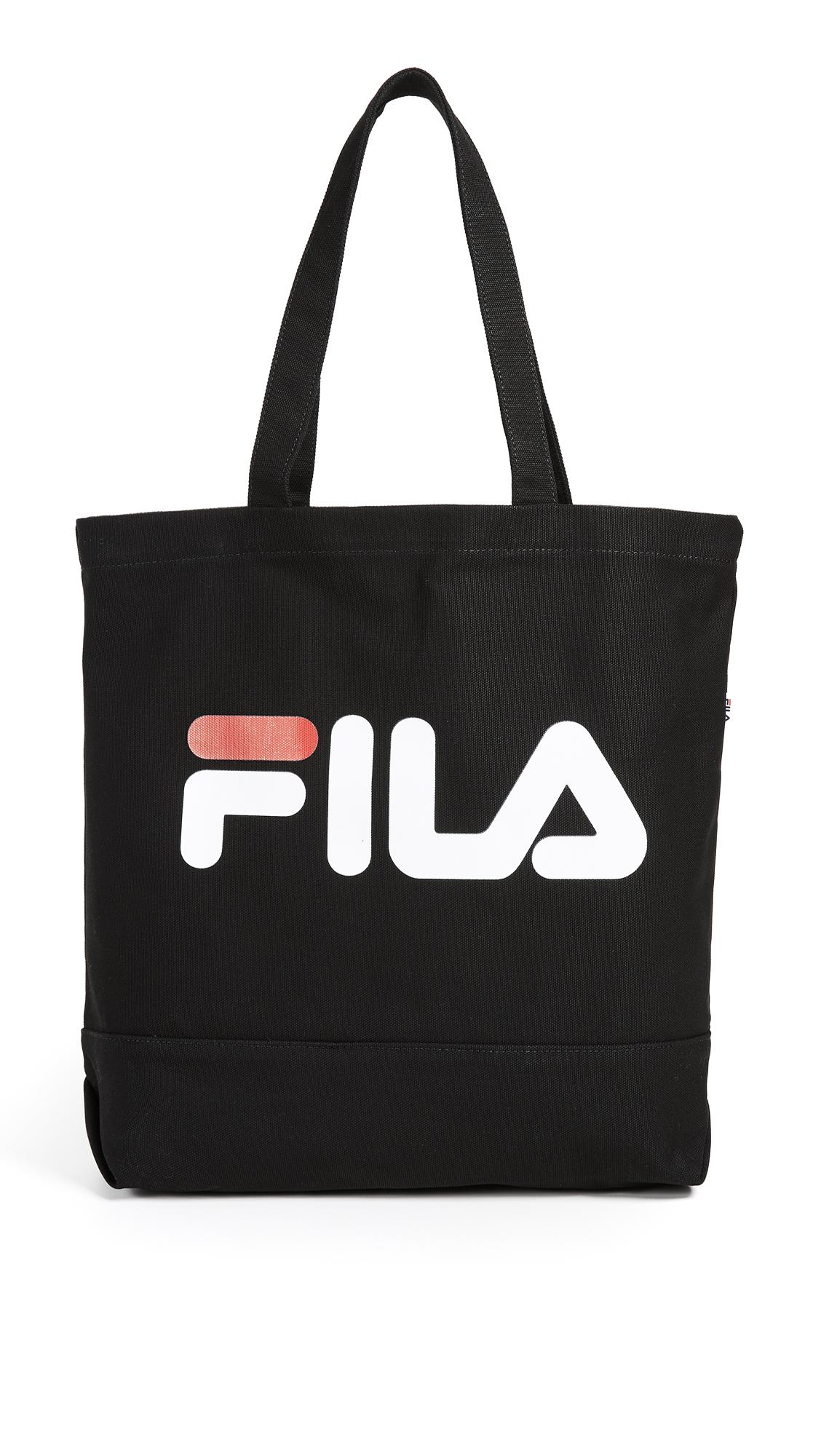 Fila Canvas Tote Bag in Black for Men - Lyst 0f0a516d65d3b
