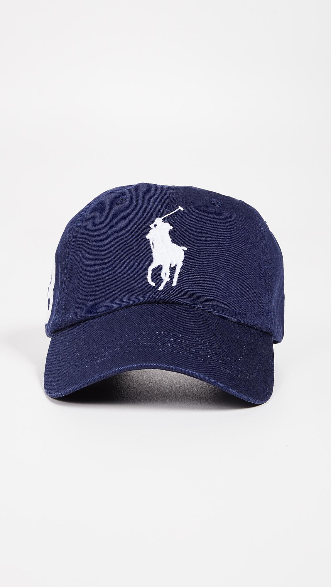 ff769709420 Polo Ralph Lauren Big Pony Cap in Blue for Men - Lyst