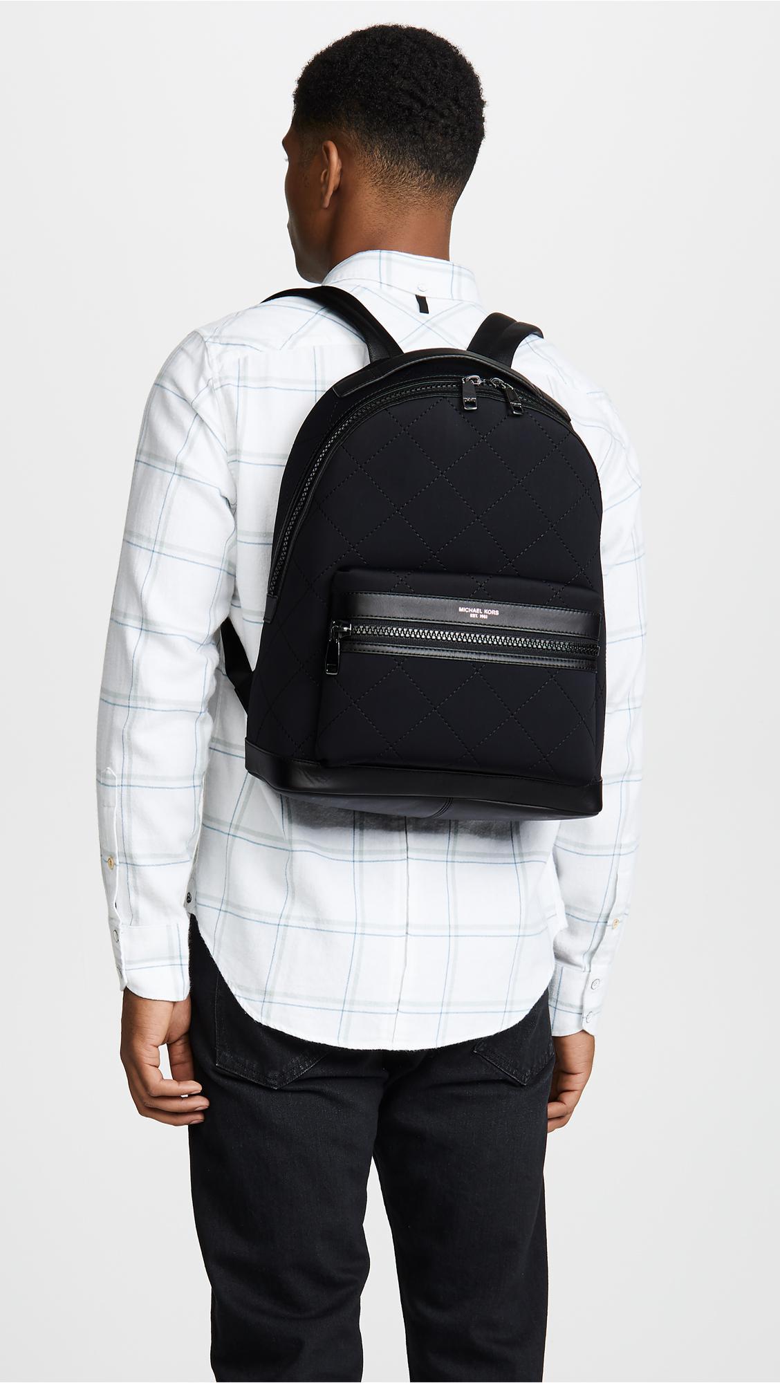7230a270a2b8f1 Michael Kors Odin Neoprene Backpack in Black for Men - Lyst