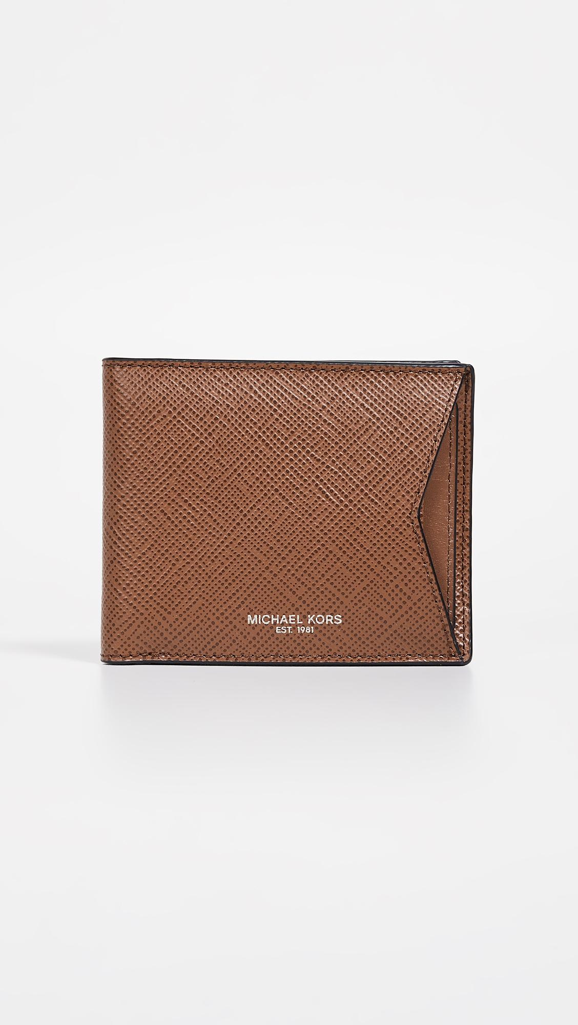 df72bddce890 Michael Kors Harrison Wallet With Card Case in Brown for Men - Lyst