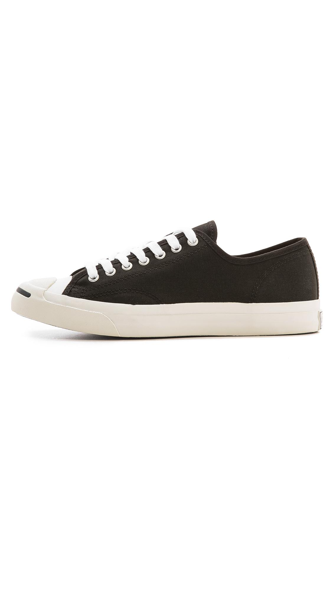 9328a4adac7feb Converse Jack Purcell Canvas Sneakers in Black for Men - Lyst