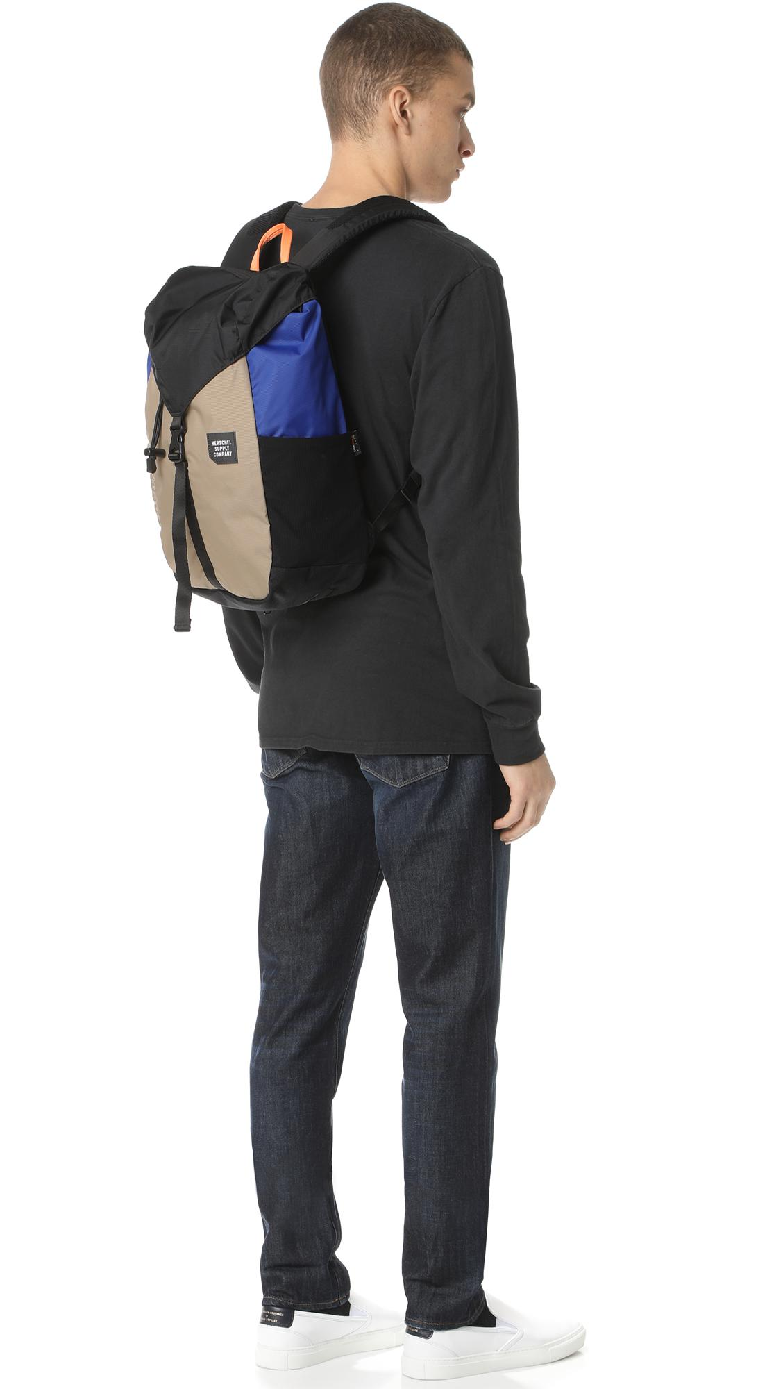8255613c018 Lyst - Herschel Supply Co. Trail Barlow Medium Backpack in Black for Men