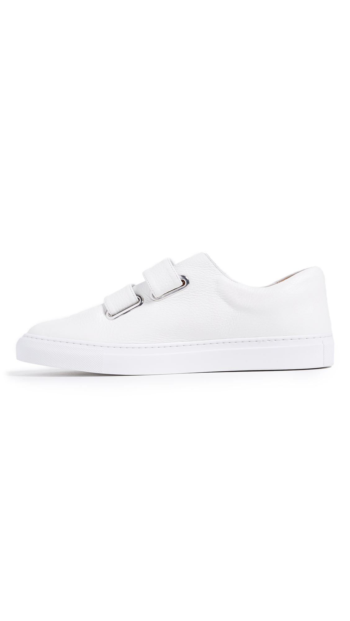 Rudy Leather Double Strap Velcro Sneakers - White Solovi��re 3VvQ8rYXkq