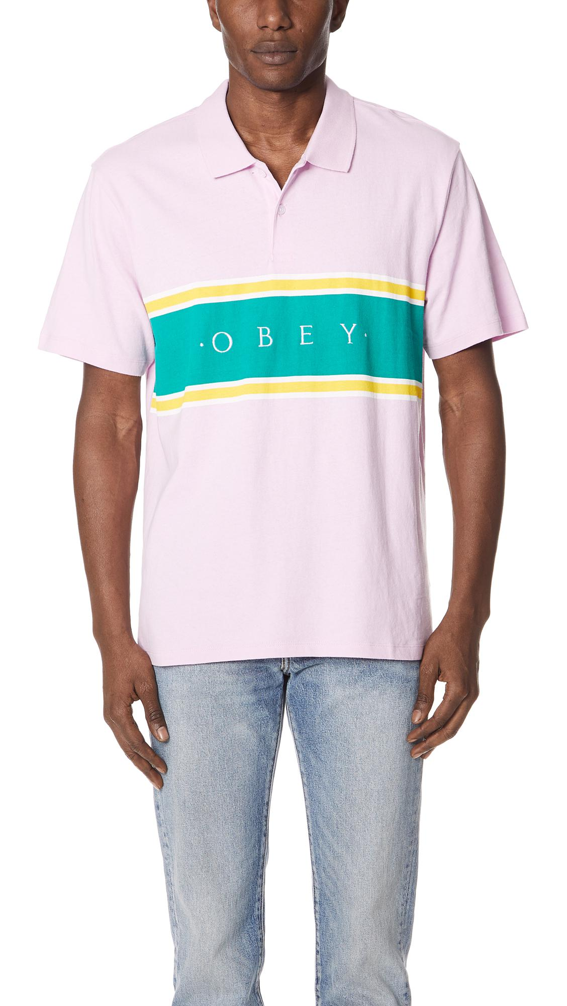 7e8ad9f2 Obey Palisade Polo Shirt in Pink for Men - Lyst