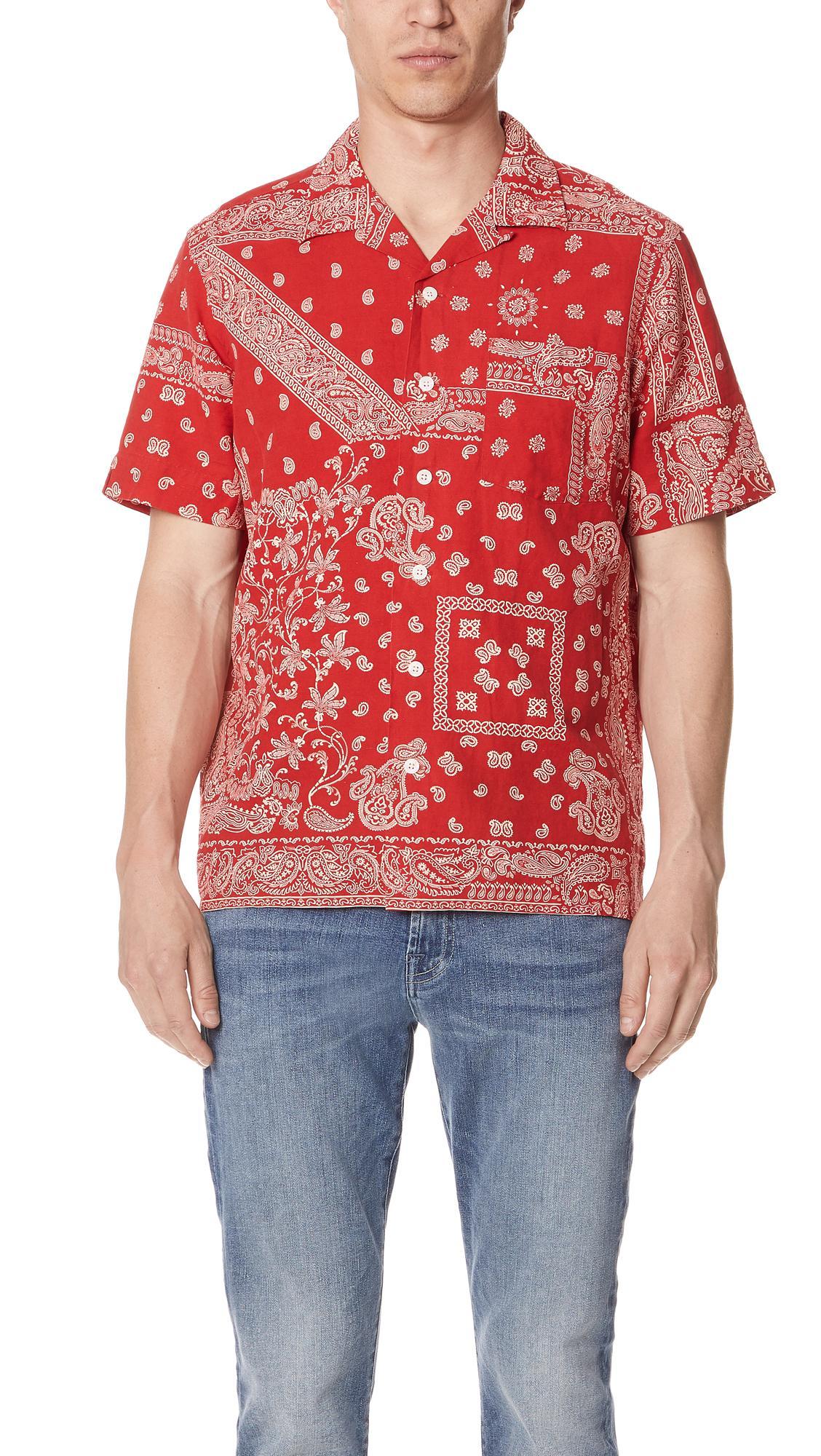 9cd9e86ec ... promo code for lyst polo ralph lauren bandana shirt in red for men  d852a f8f5a
