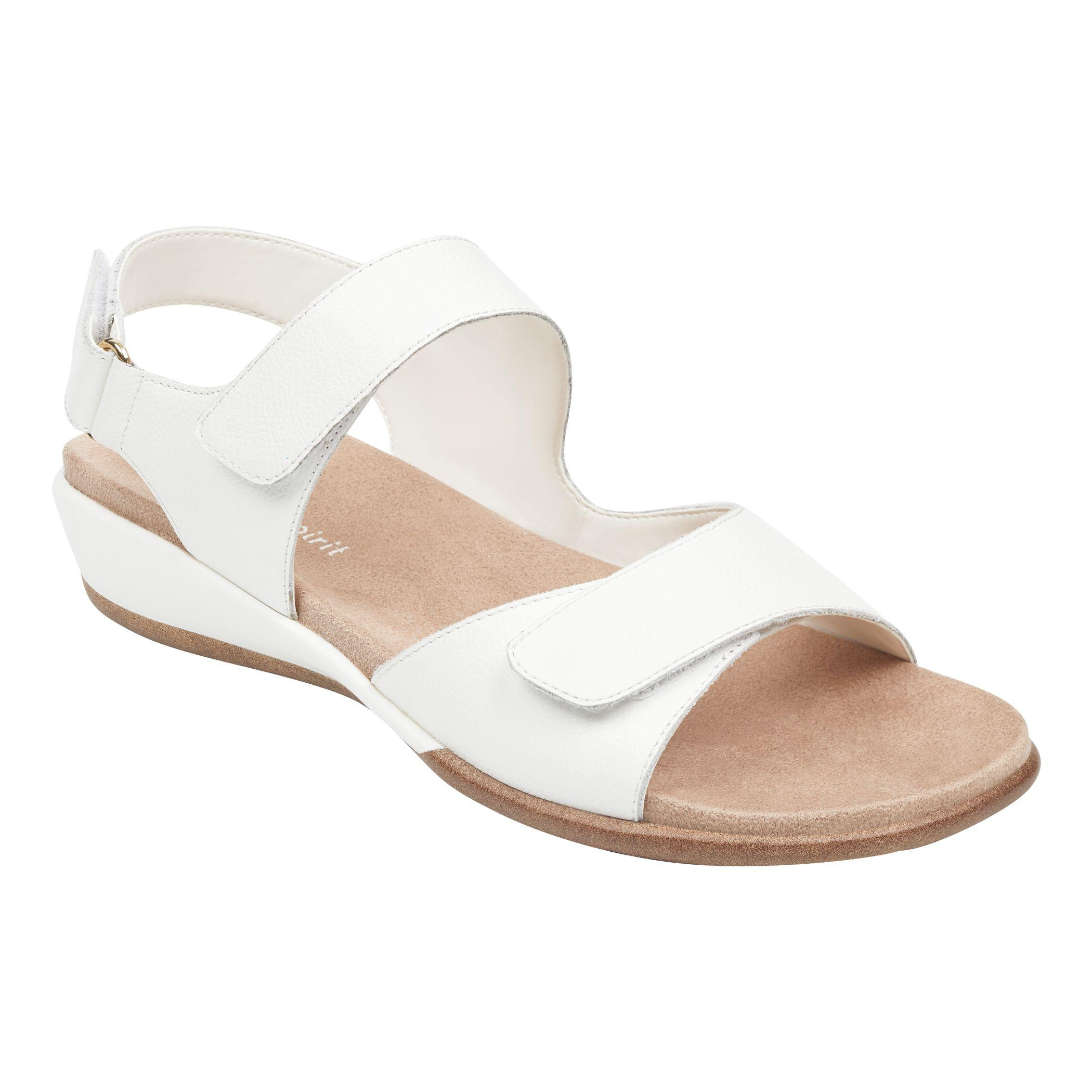 b577f47c Lyst - Easy Spirit Hartwell Flat Sandals - White Leather in White