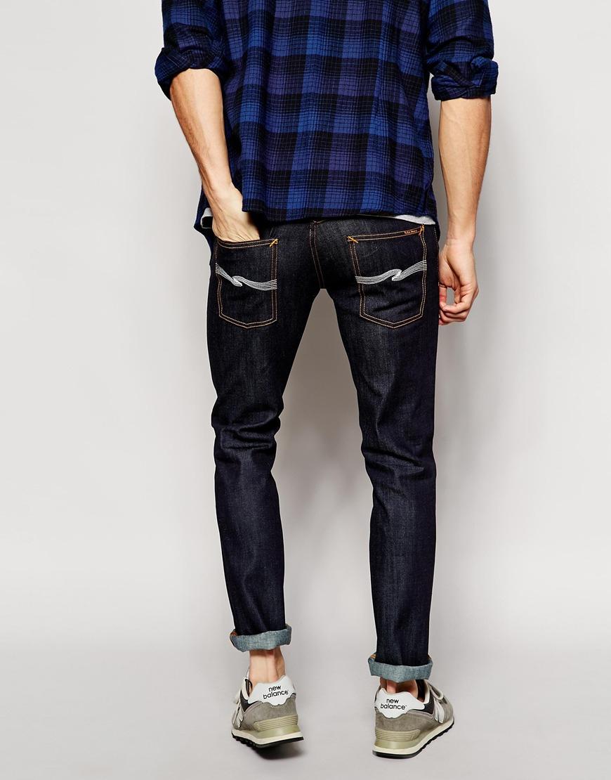 nudie jeans nudie thin finn organic dry ecru embro jeans. Black Bedroom Furniture Sets. Home Design Ideas