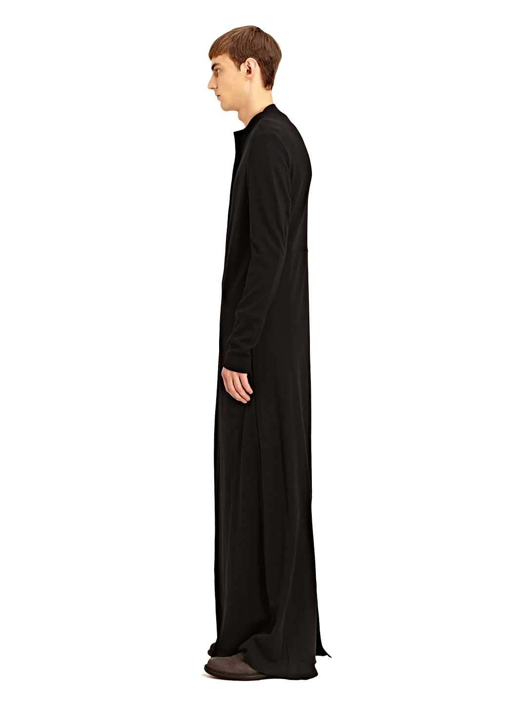 Thamanyah Mens Extra Long Asymmetrical Zipped Kandora In