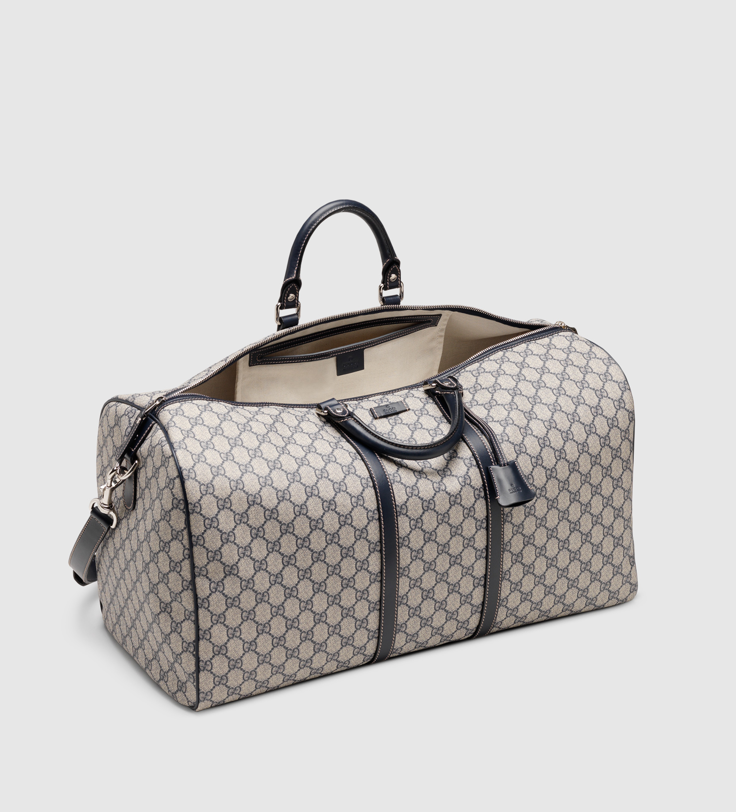 dc730439f5fc Lyst - Gucci Large Carry-on Duffle Bag in Gray for Men