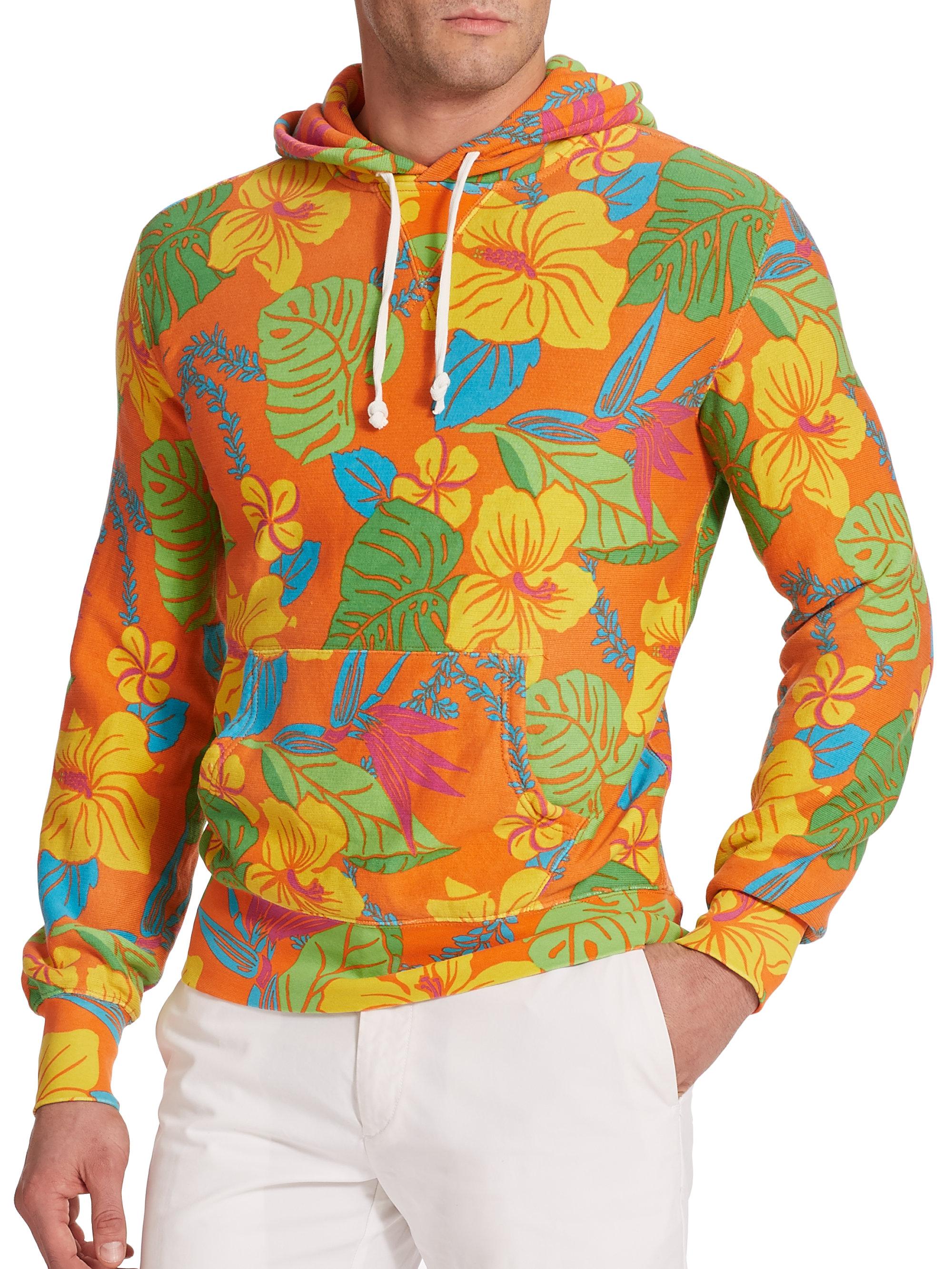 e831bcf45162e Lyst - Polo Ralph Lauren Floral Terry Hoodie for Men