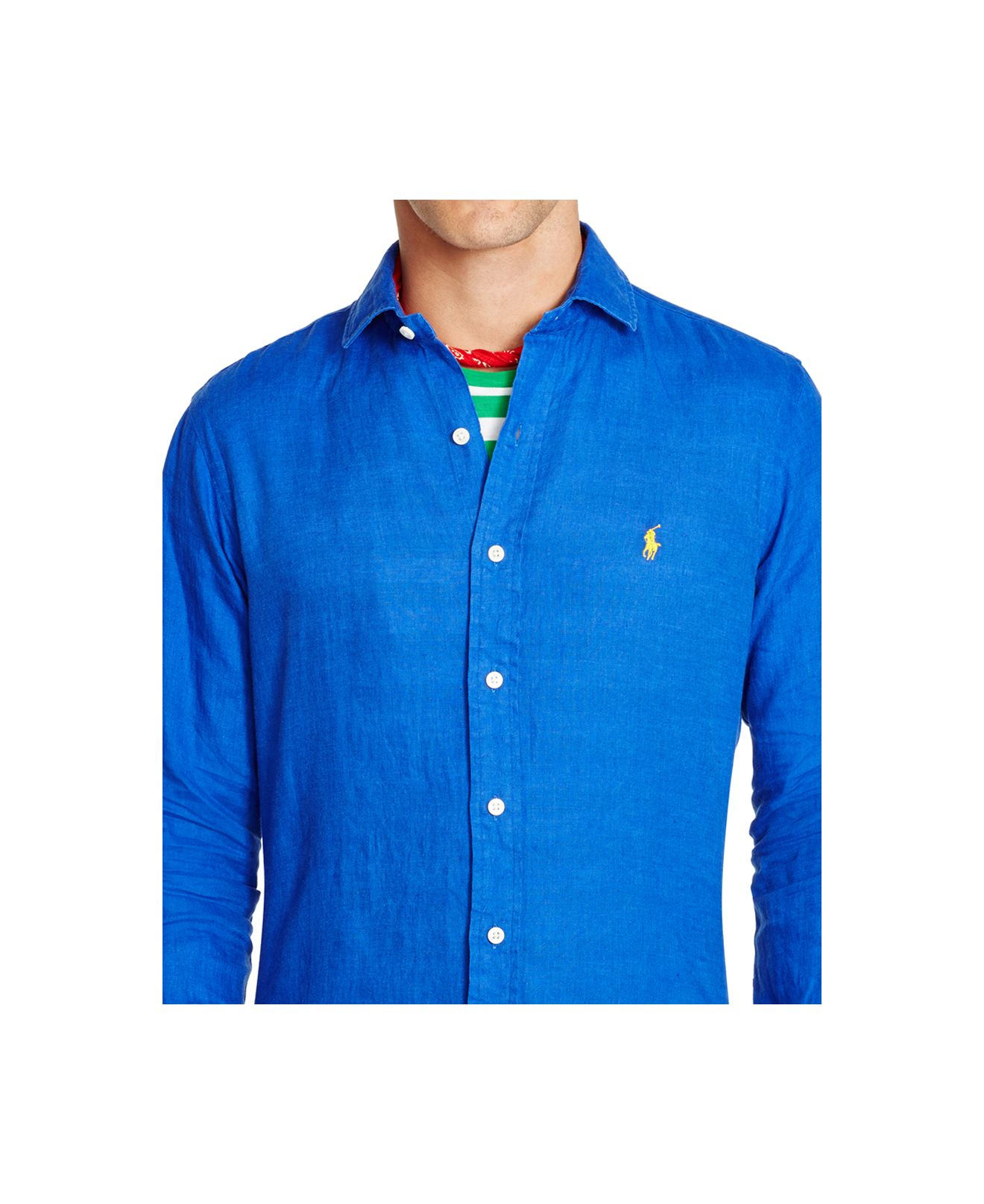 lyst polo ralph lauren men 39 s linen estate shirt in blue for men. Black Bedroom Furniture Sets. Home Design Ideas