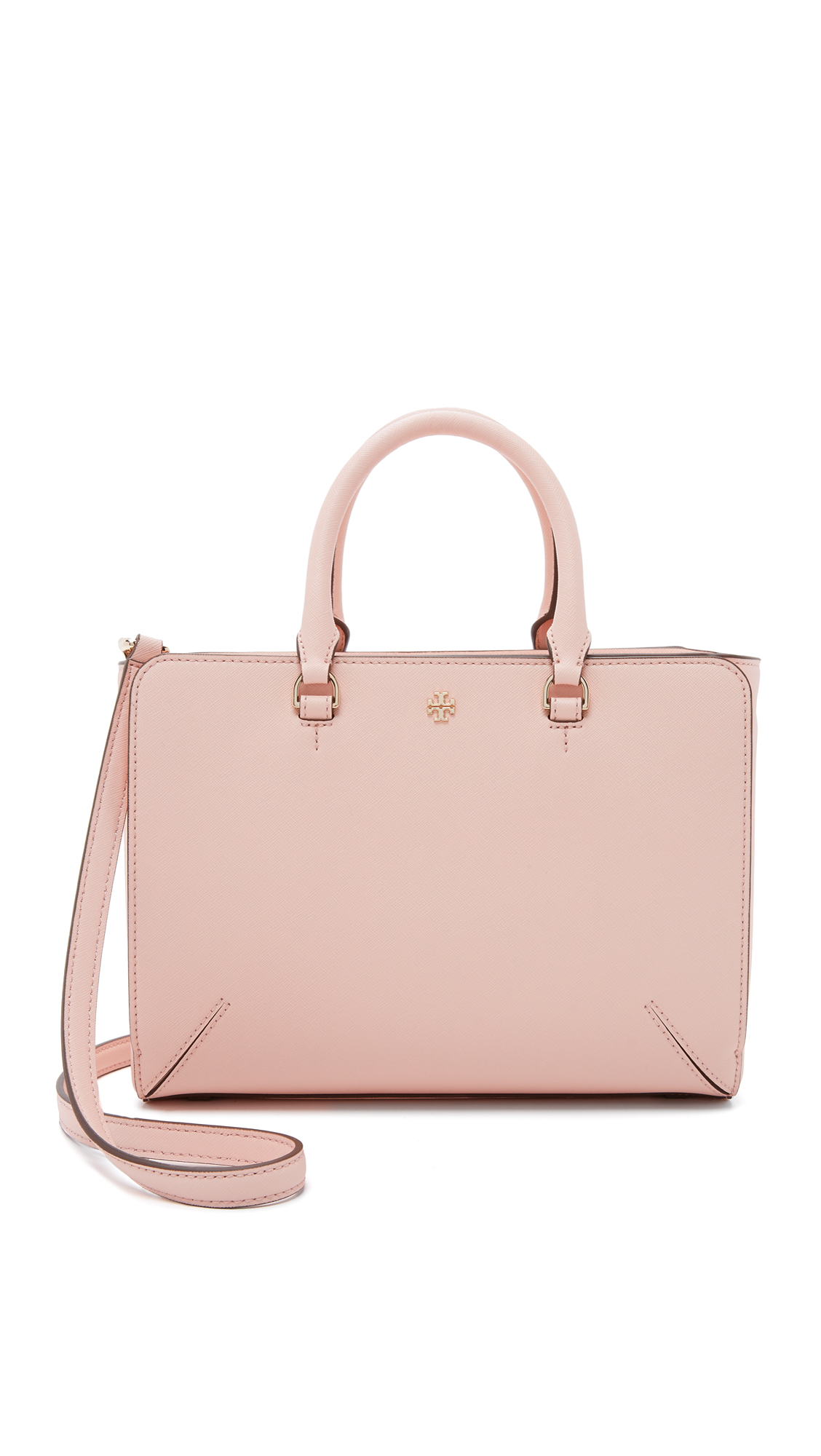 f91c495fc495 Lyst - Tory Burch Robinson Small Zip Tote in Pink
