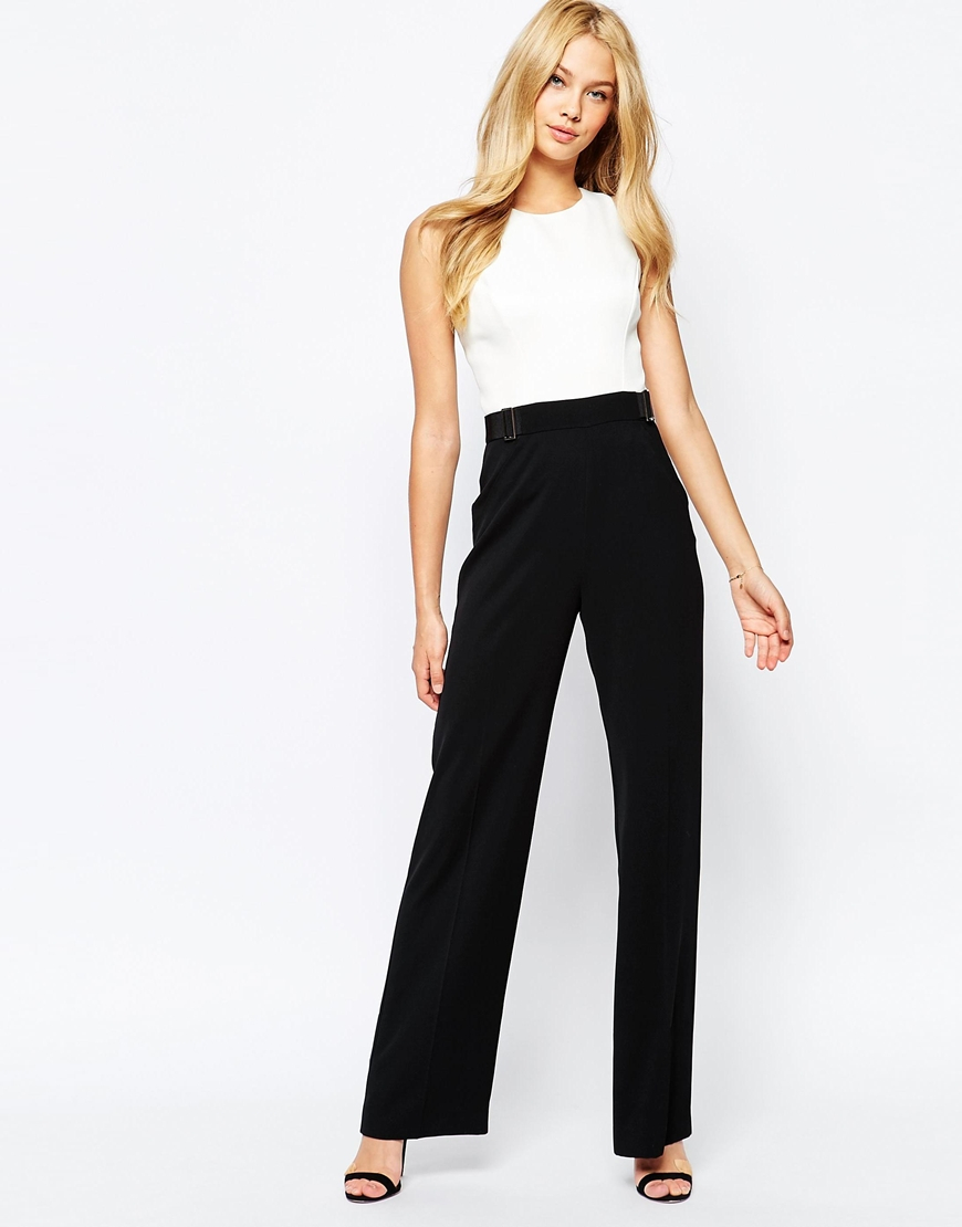 e9817839b1f2 Lyst - Ted Baker Lydya Crossback Jumpsuit in Black