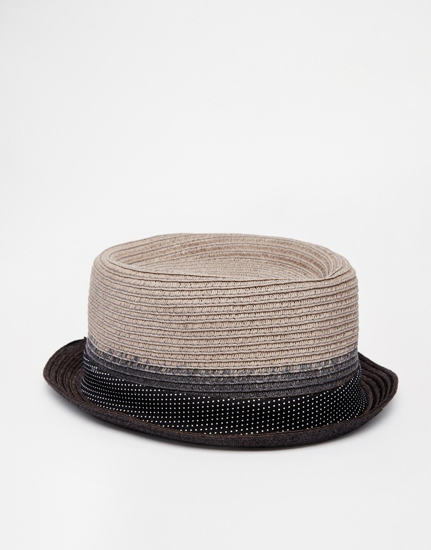 307a7276dec Lyst - Ted Baker Straw Pork Pie Hat in Gray for Men