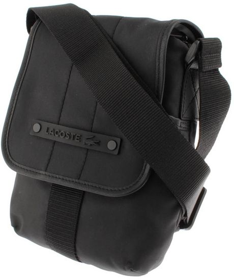 Lacoste Vertical Camera Bag in Black for Men