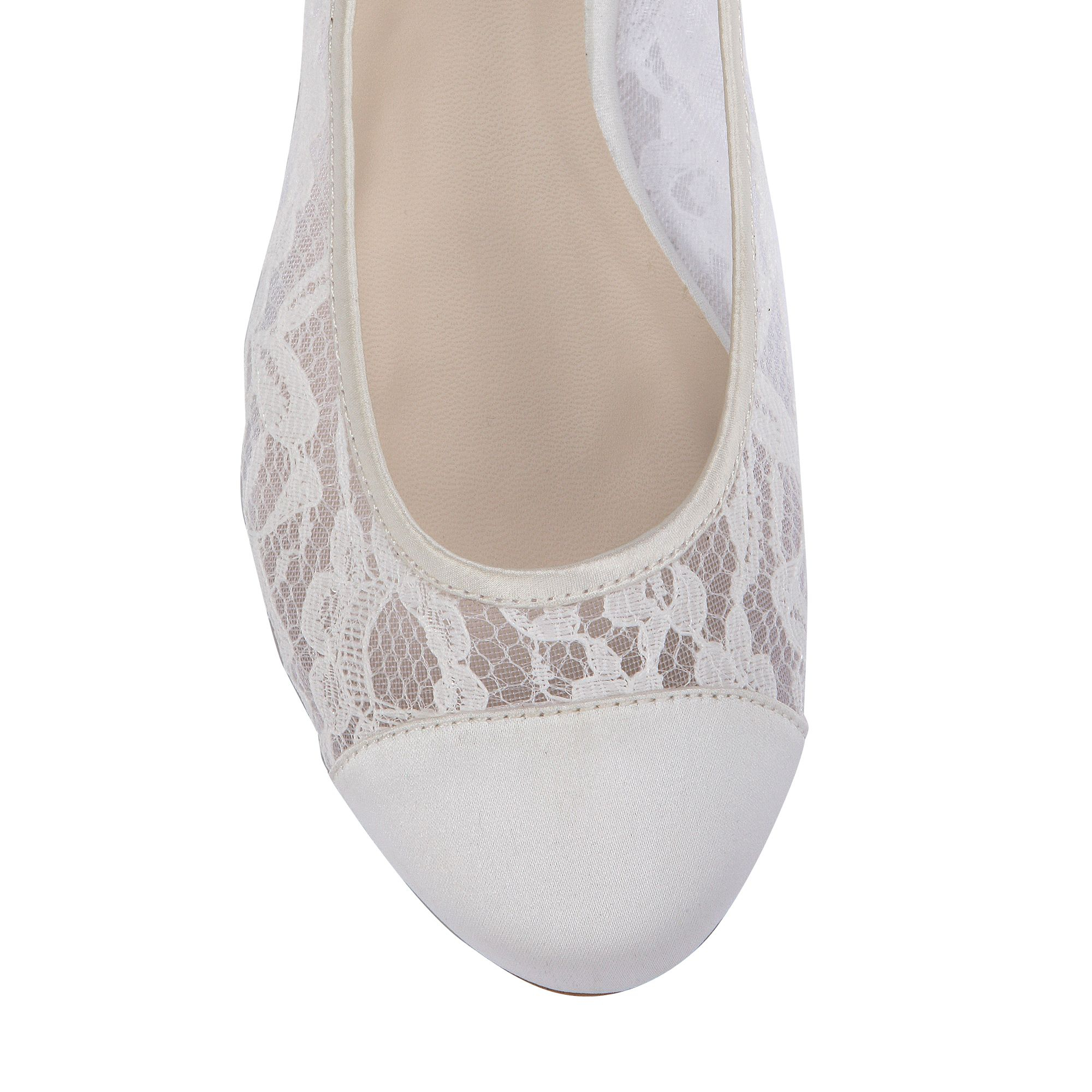 Lace London Pink Shoes Ivory