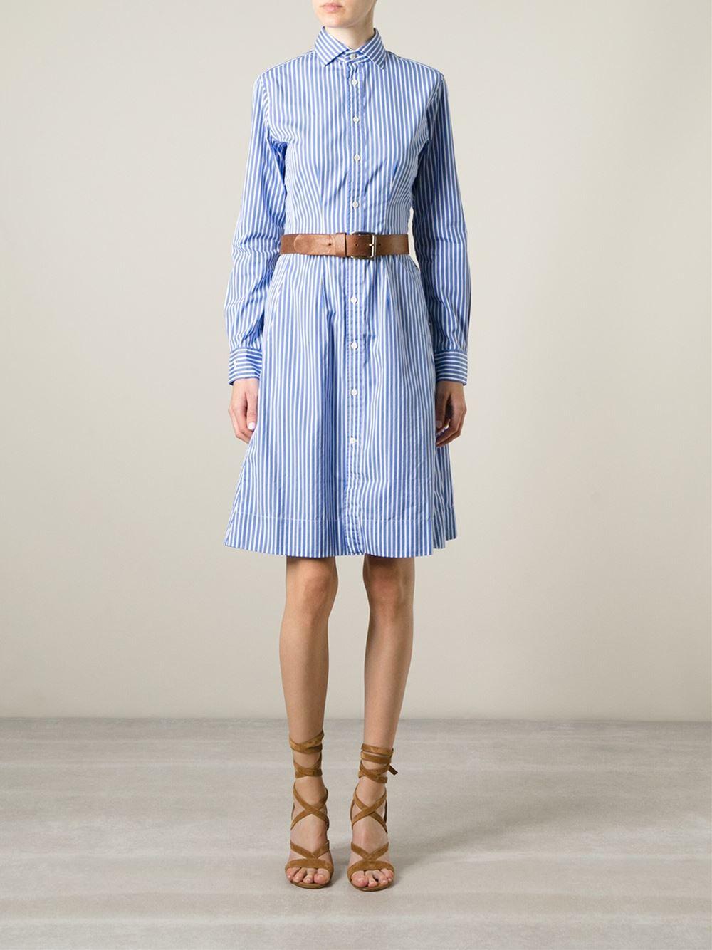 a8084dcffde Polo Ralph Lauren Dori Long Sleeve Striped Shirt Dress