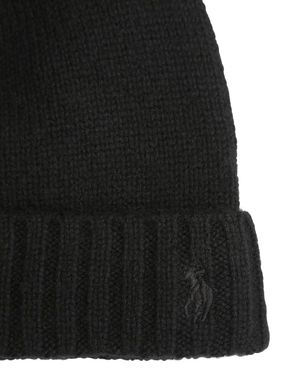 Polo Ralph Lauren Cashmere Blend Knit Beanie Hat in Black for Men - Lyst b84179bbaa3