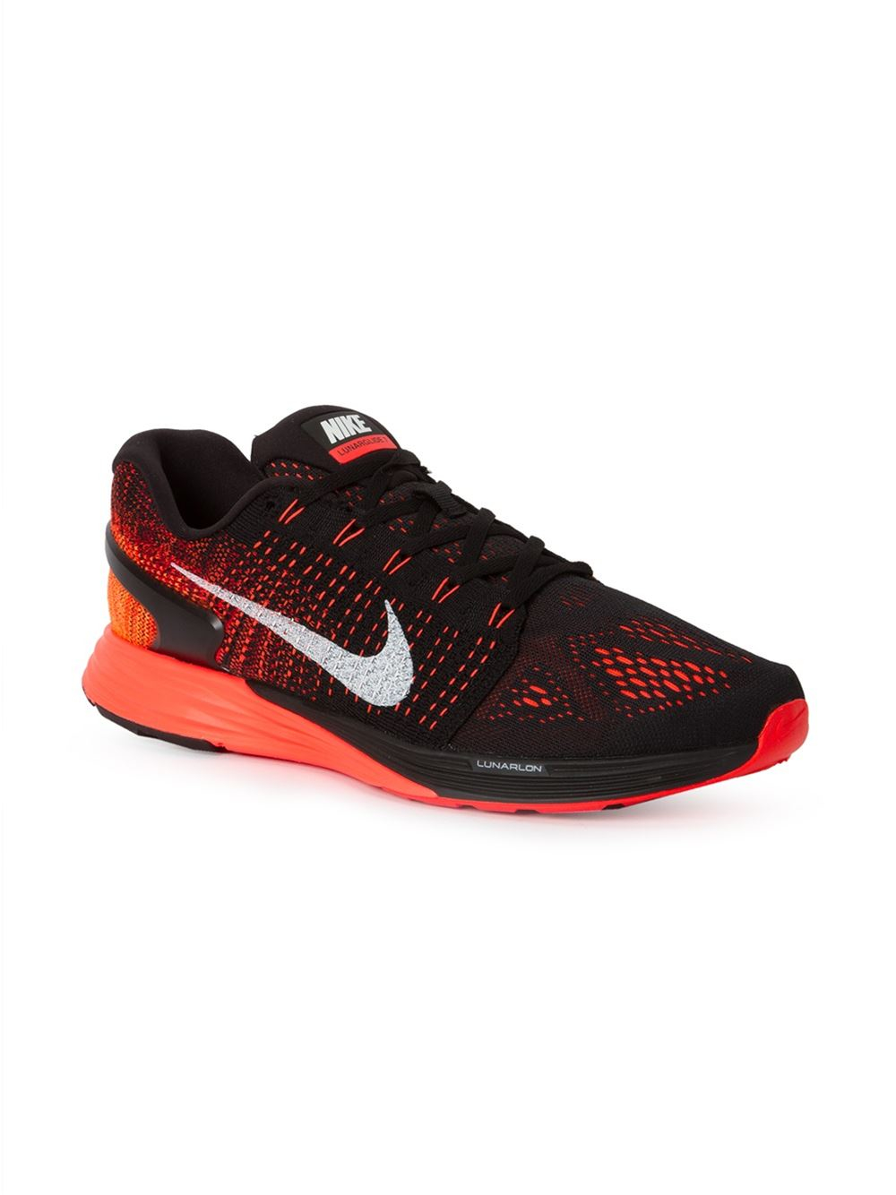 6557ede4188 ... coupon for lyst nike lunarglide 7 running sneakers in red for men 4355e  d8c96