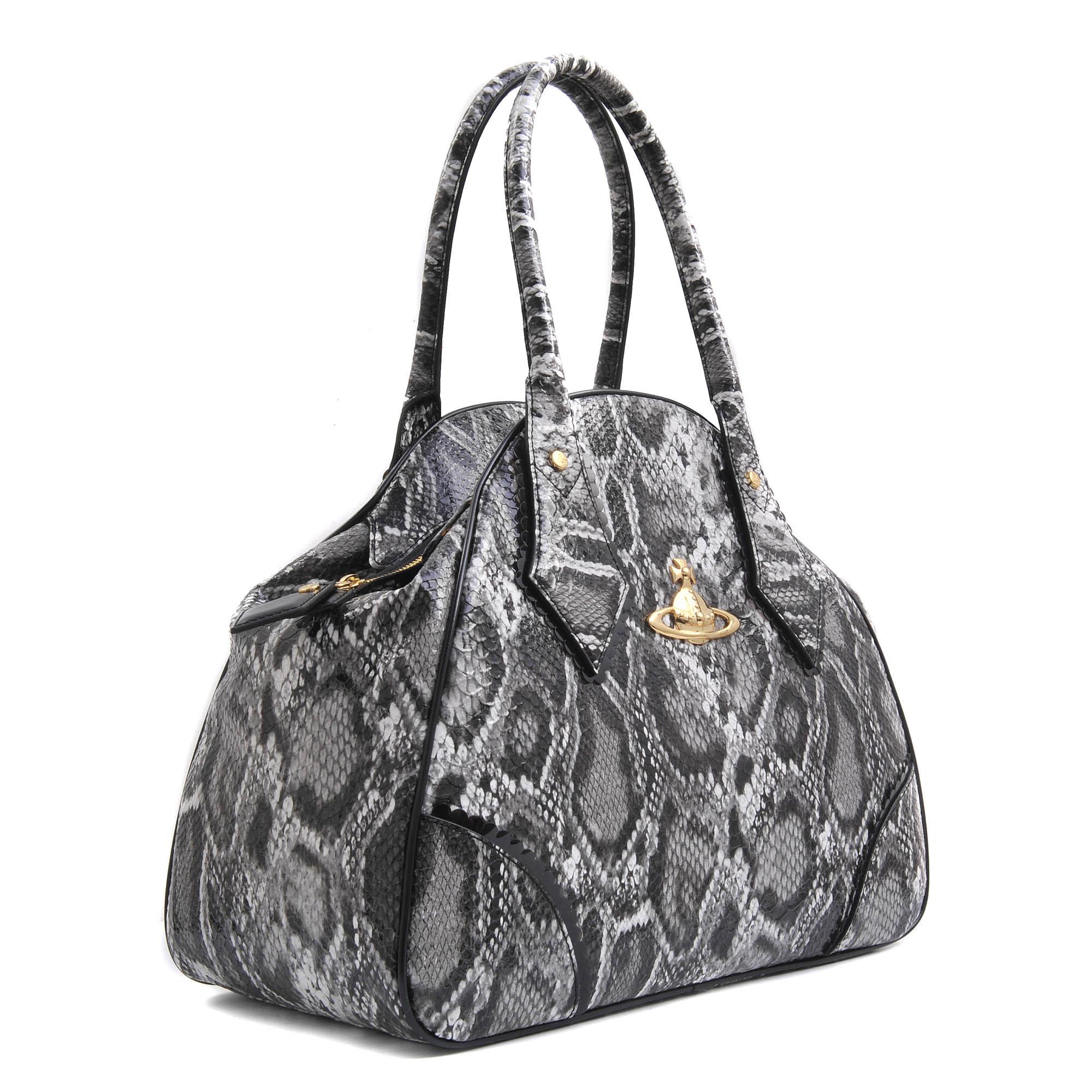 38ac9eb2e7c Vivienne Westwood Large Yasmin Frilly Snake Bag in Black - Lyst