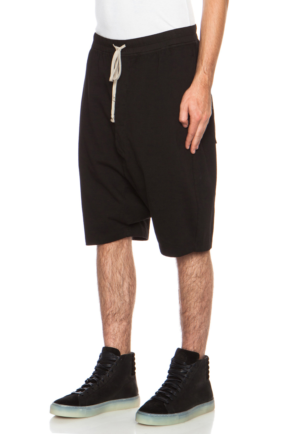 Drkshdw by rick owens Mens Berlin Drawstring Shorts in Black | Lyst