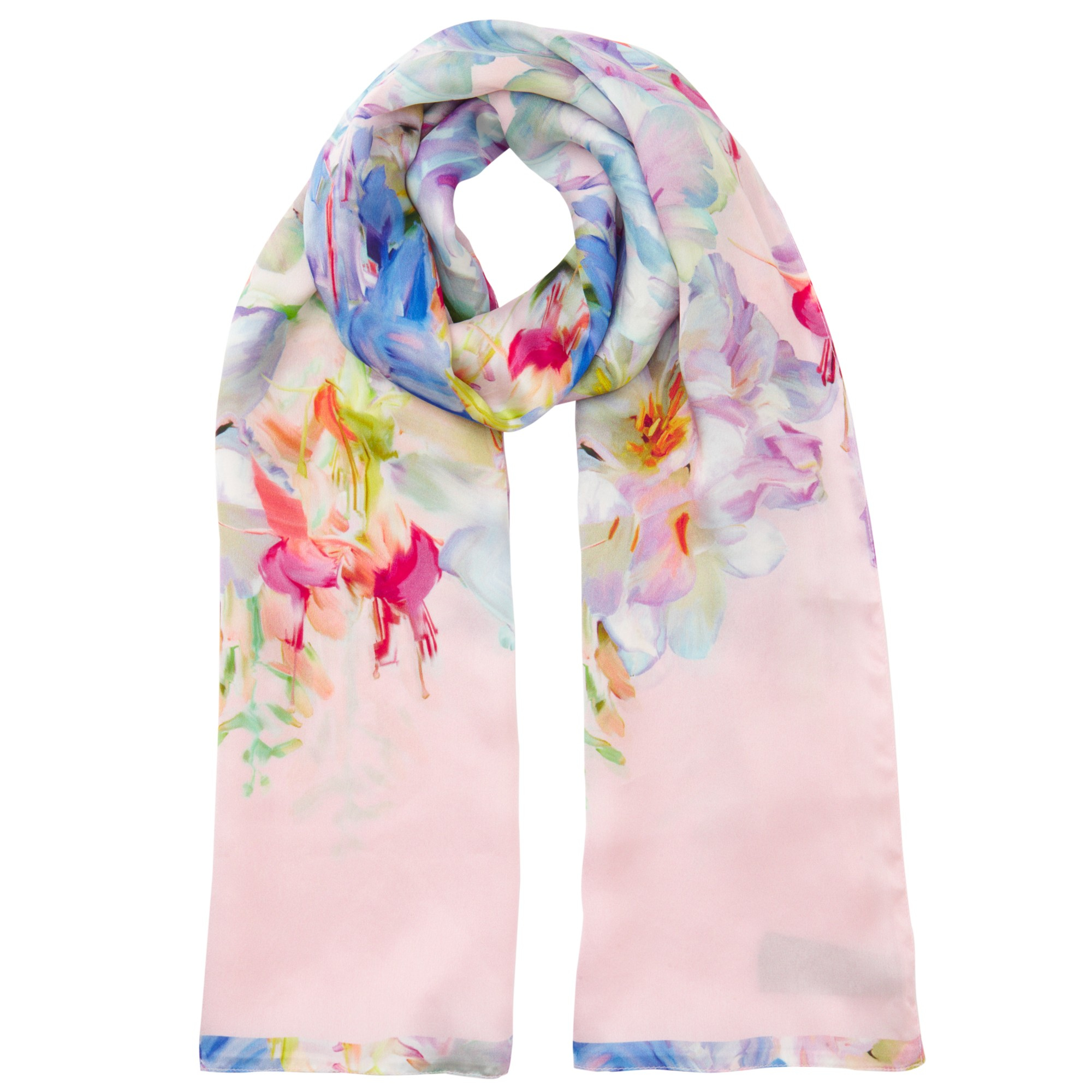 621eb005f3425 Lyst Ted Baker Tracie Hanging Gardens Long Silk Scarf